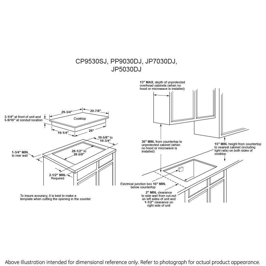 Model: PP7030DJBB | GE Profile™ Series 30