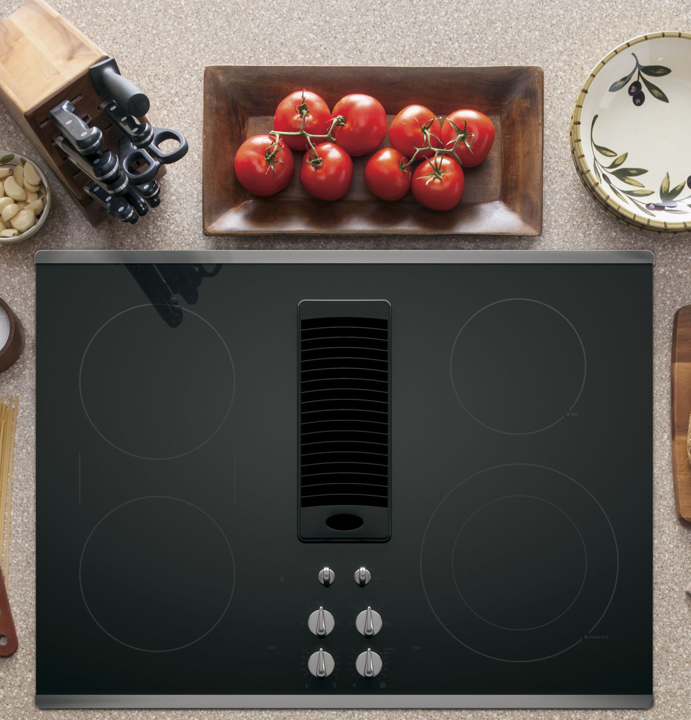 "Model: PP9830SJSS | GE Profile GE Profile™ Series 30"" Downdraft Electric Cooktop"