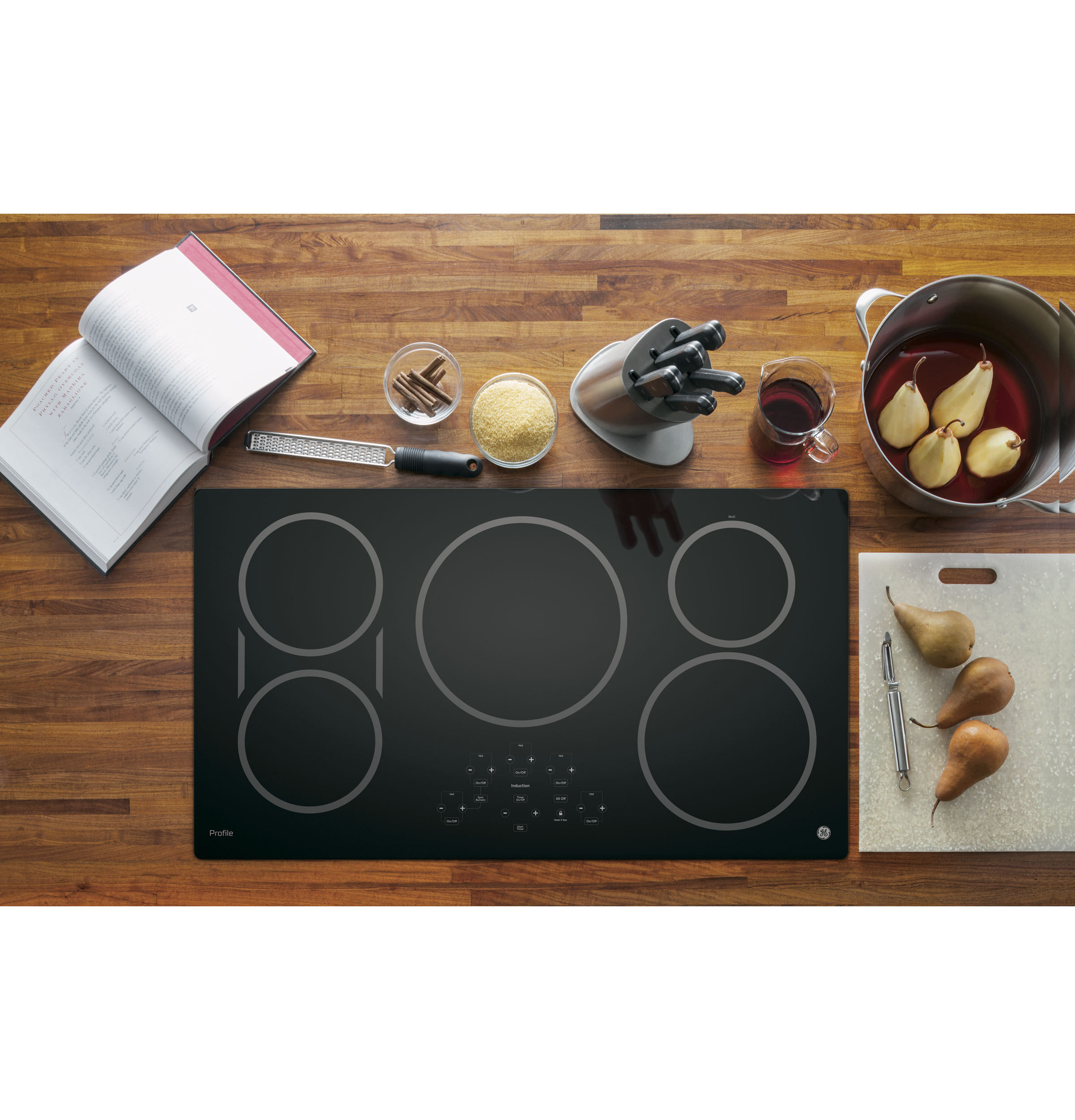"Model: PHP9036DJBB | GE Profile GE Profile™ Series 36"" Built-In Touch Control Induction Cooktop"