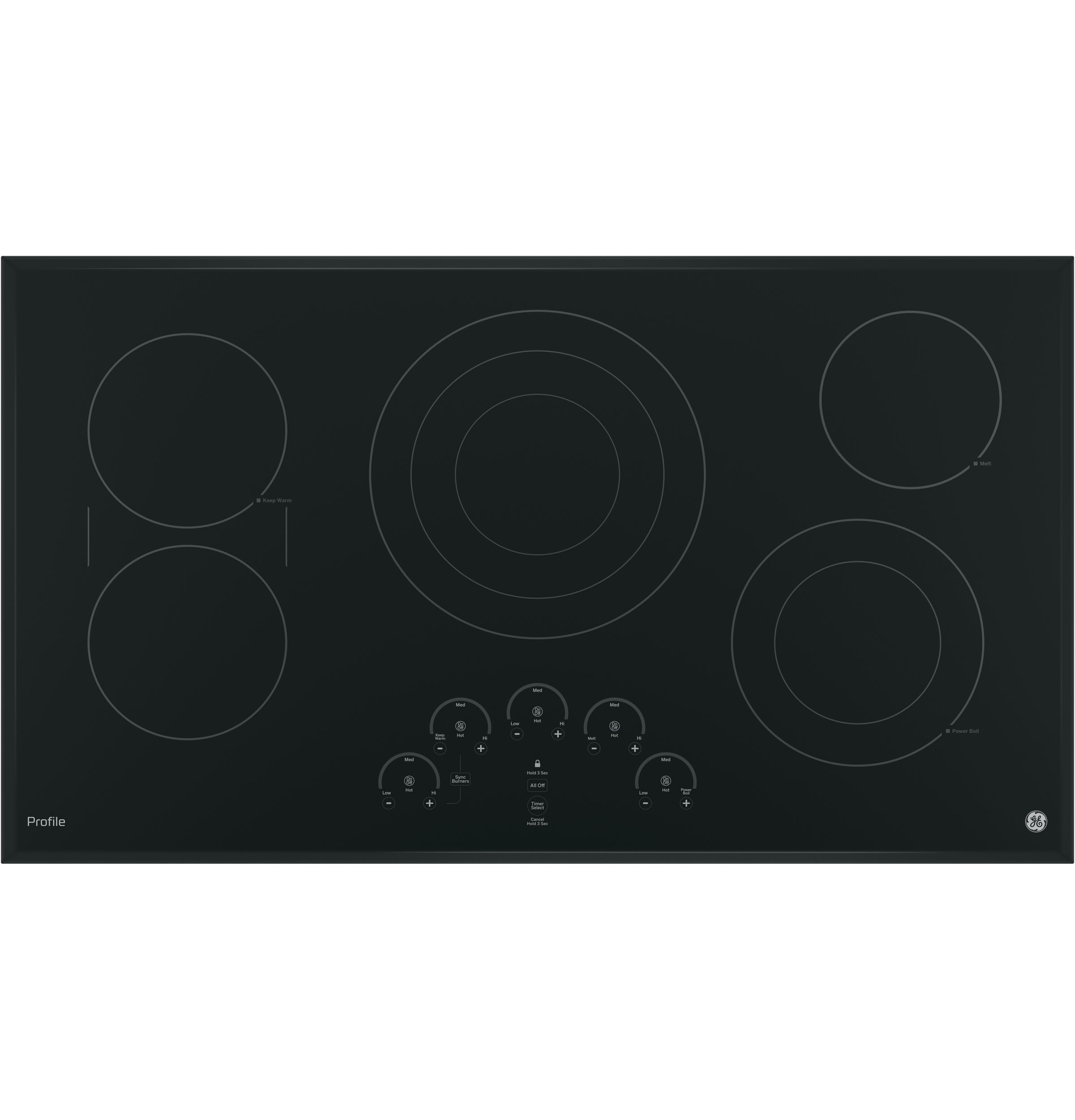 "GE Profile GE Profile™ Series 36"" Built-In Touch Control Cooktop"