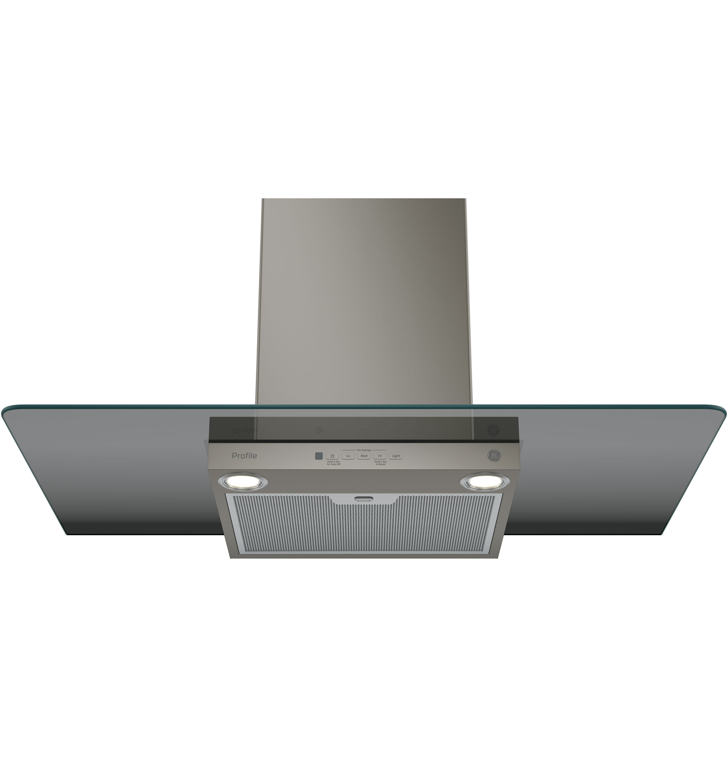 "Model: PVW7361EJES | GE Profile GE Profile™ Series 36"" Wall-Mount Glass Canopy Chimney Hood"