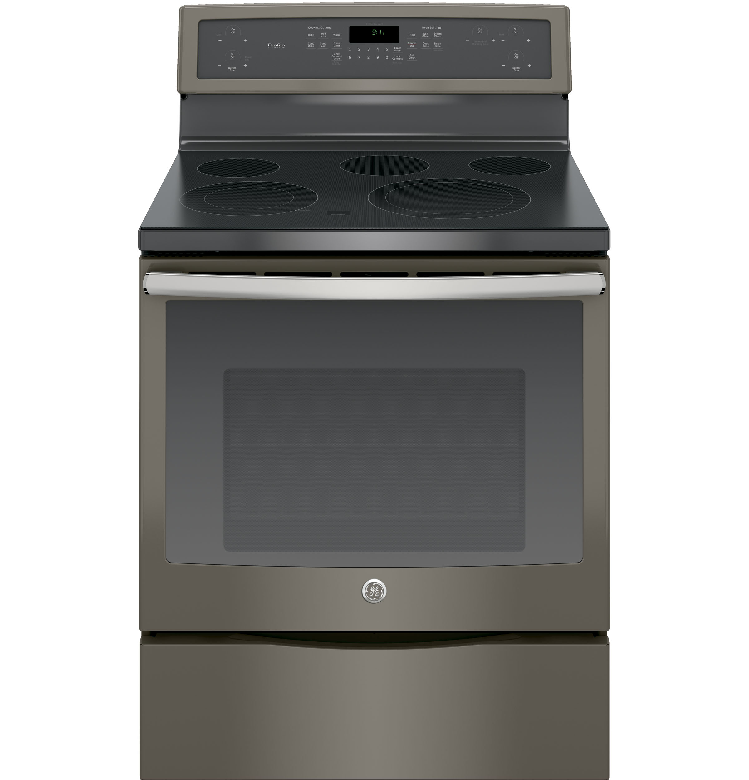 "Model: PB911EJES | GE Profile GE Profile™ Series 30"" Free-Standing Electric Convection Range"