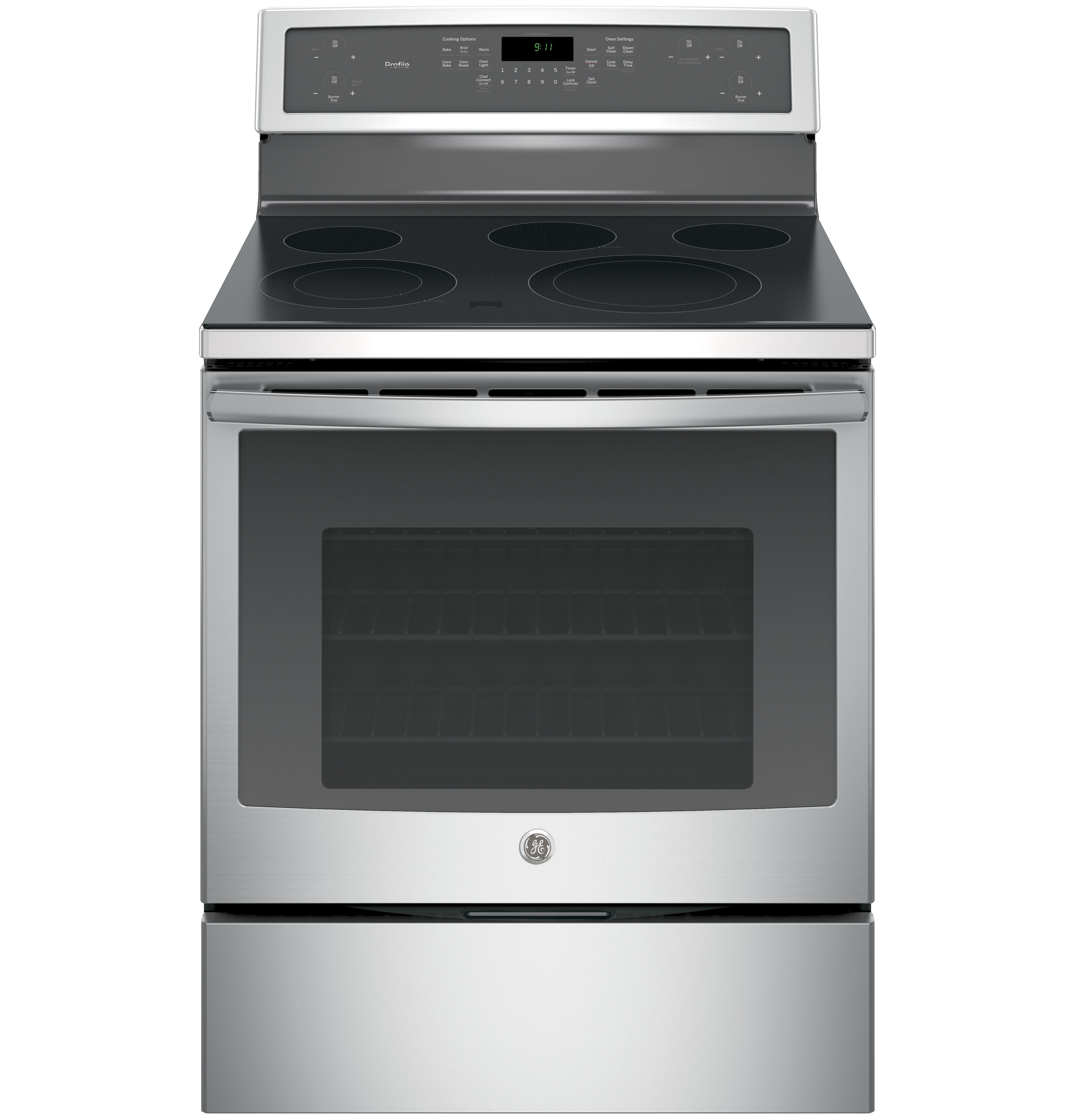 "Model: PB911SJSS | GE Profile GE Profile™ Series 30"" Free-Standing Electric Convection Range"