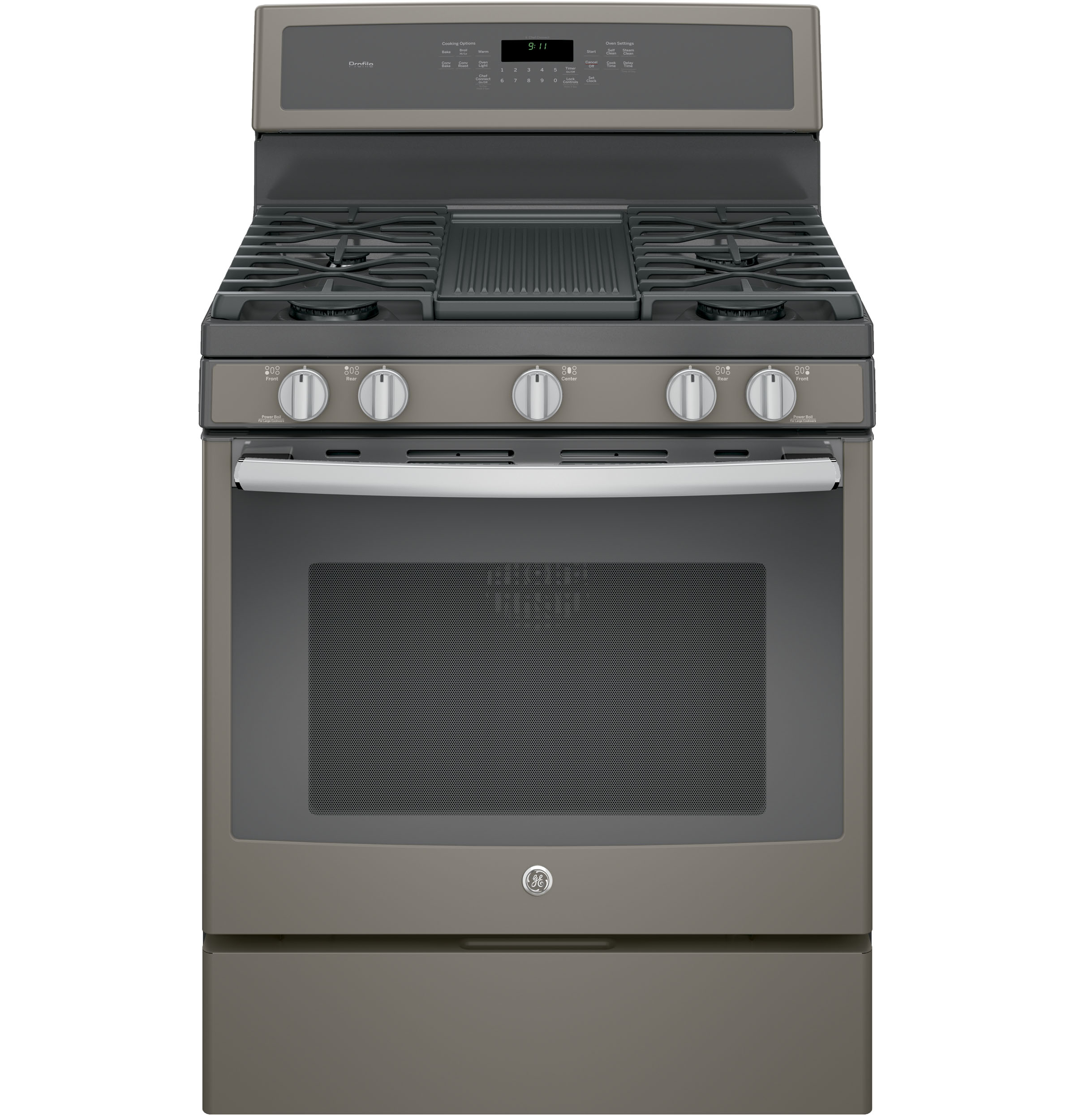 "Model: PGB911EEJES | GE Profile GE Profile™ Series 30"" Free-Standing Gas Convection Range"