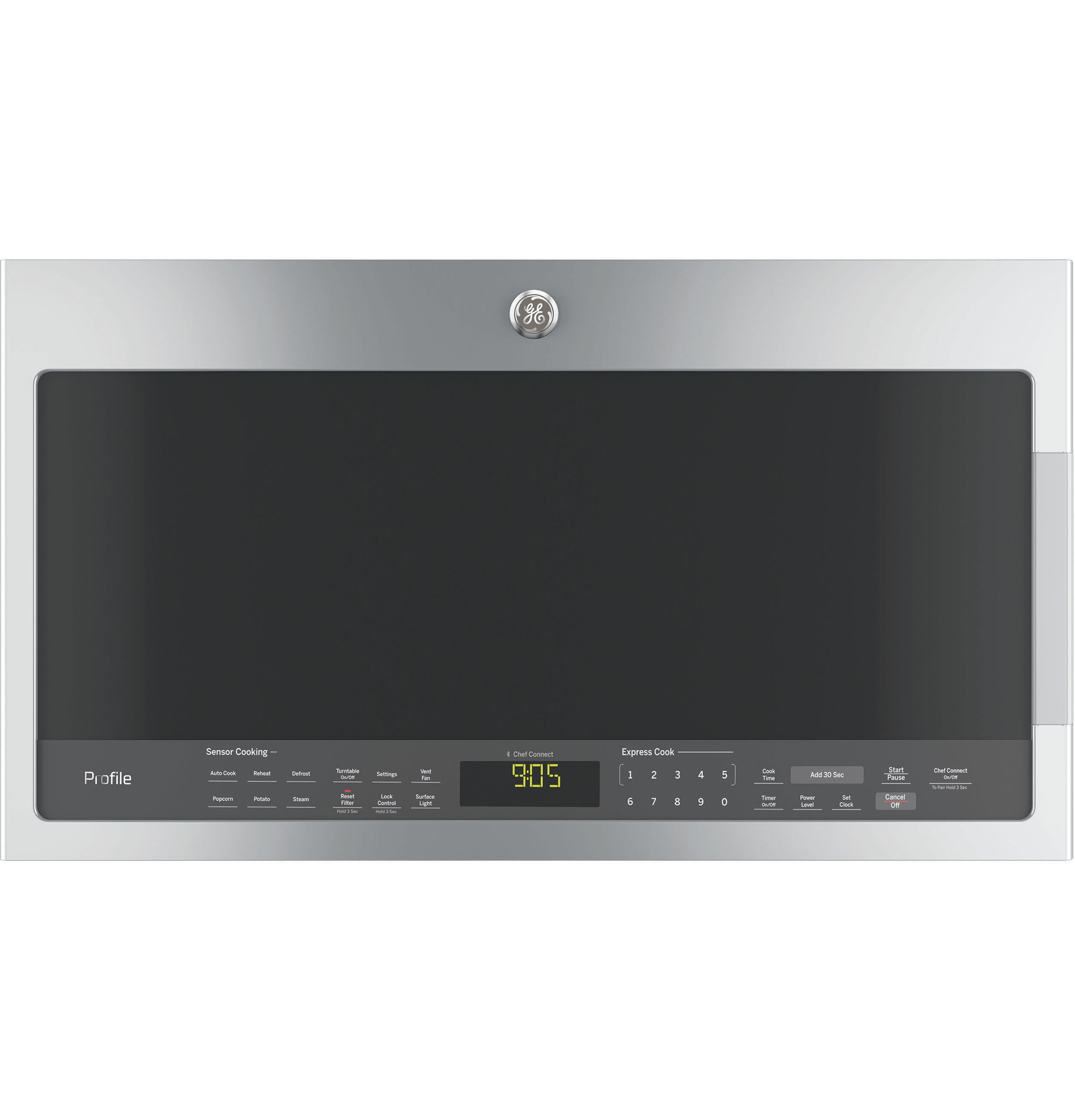 Model: PVM9005SJSS | GE Profile GE Profile™ Series 2.1 Cu. Ft. Over-the-Range Sensor Microwave Oven