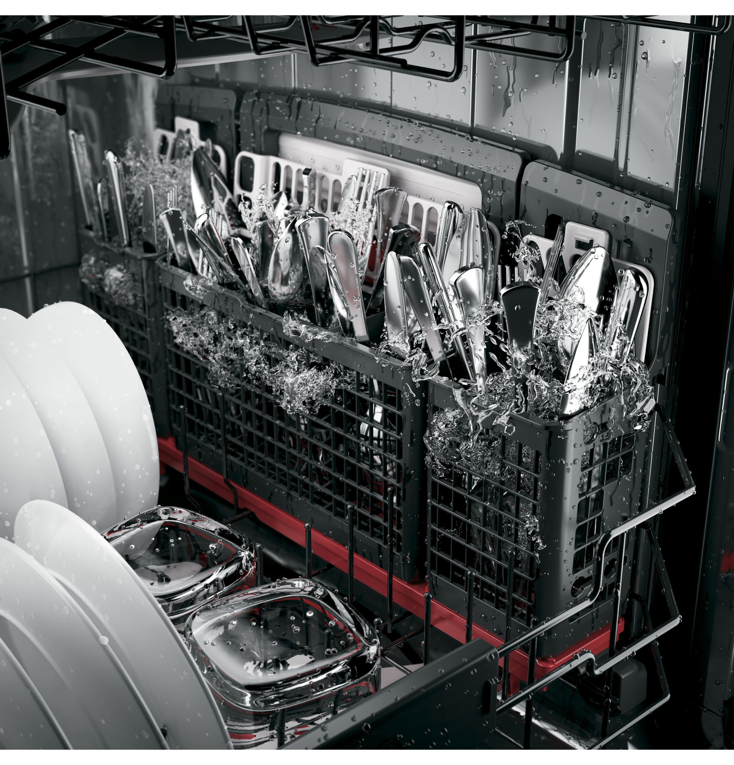 Model: PDT855SSJSS | GE Profile™ Stainless Steel Interior Dishwasher with Hidden Controls