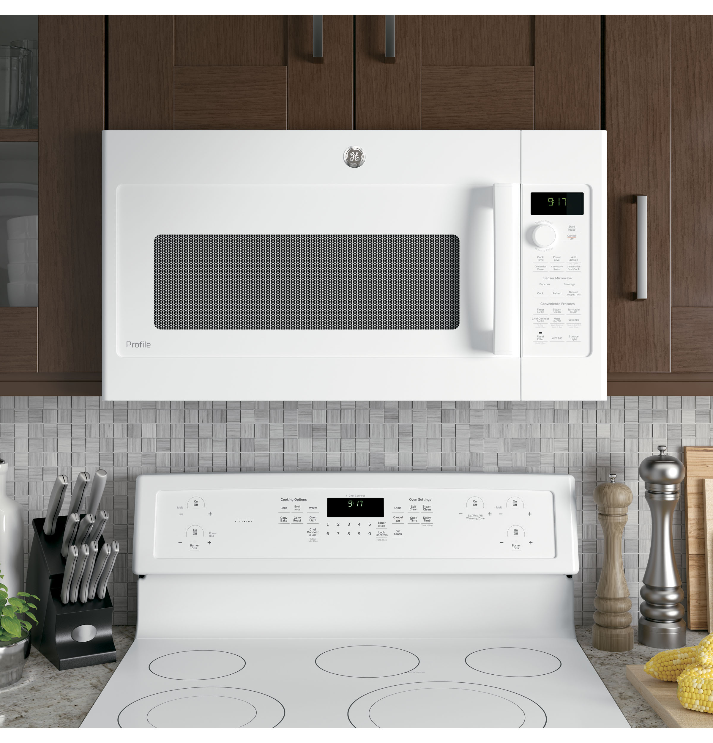 Model: PVM9179DKWW | GE Profile GE Profile™ Series 1.7 Cu. Ft. Convection Over-the-Range Microwave Oven