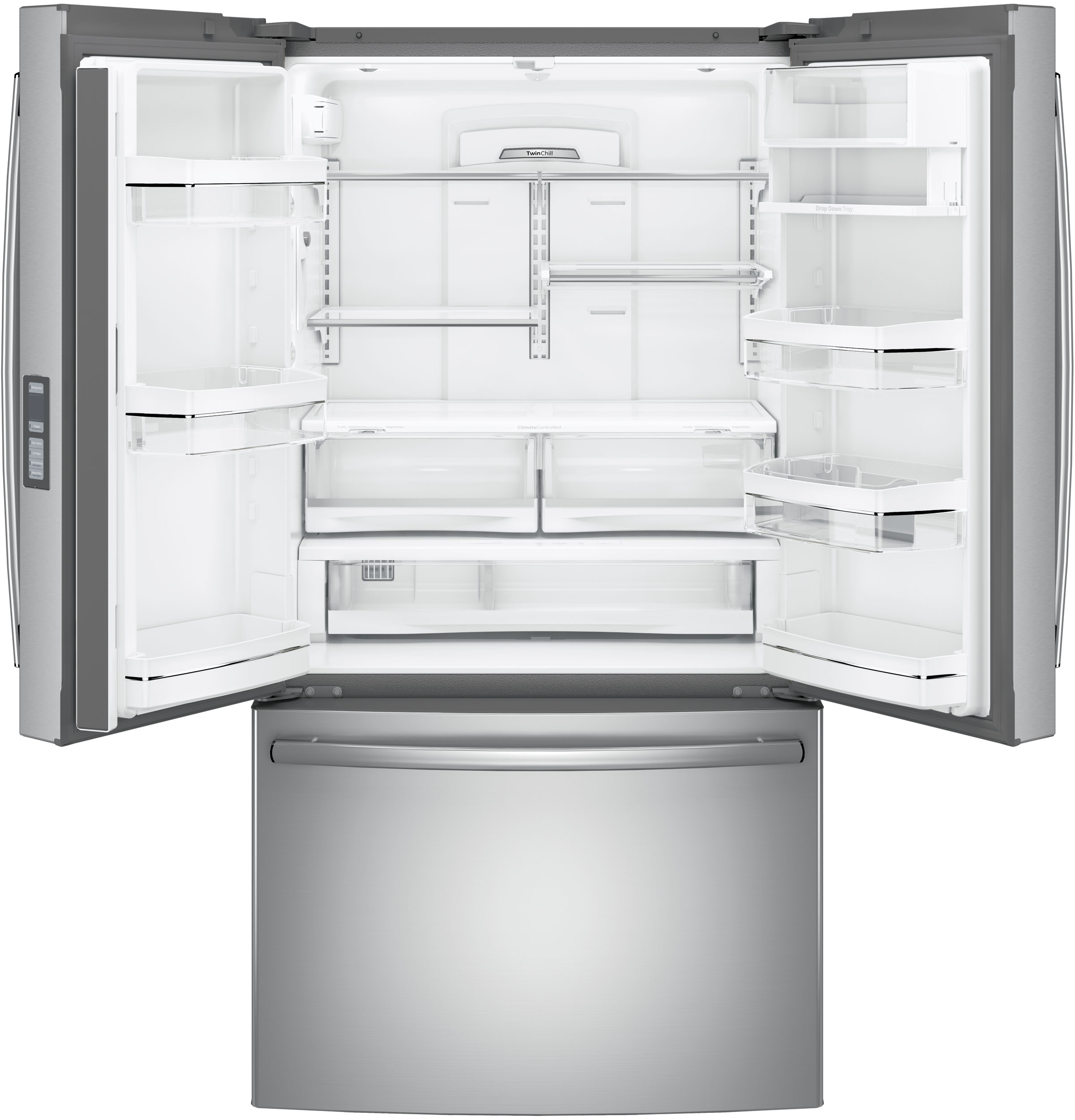 Model: PWE23KSKSS | GE Profile GE Profile™ Series ENERGY STAR® 23.1 Cu. Ft. Counter-Depth French-Door Refrigerator