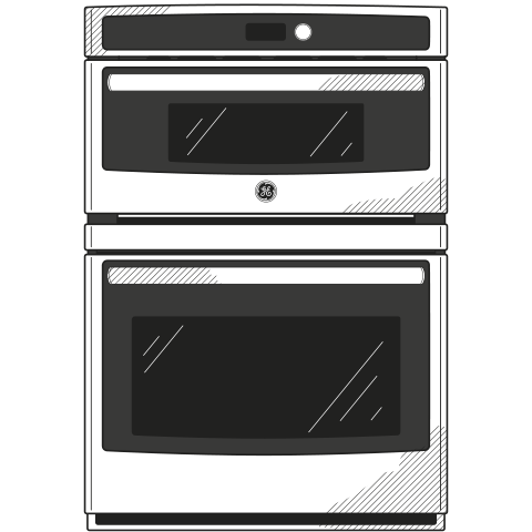 "Model: PT7800EKES | GE Profile GE Profile™ Series 30"" Built-In Combination Convection Microwave/Convection Wall Oven"