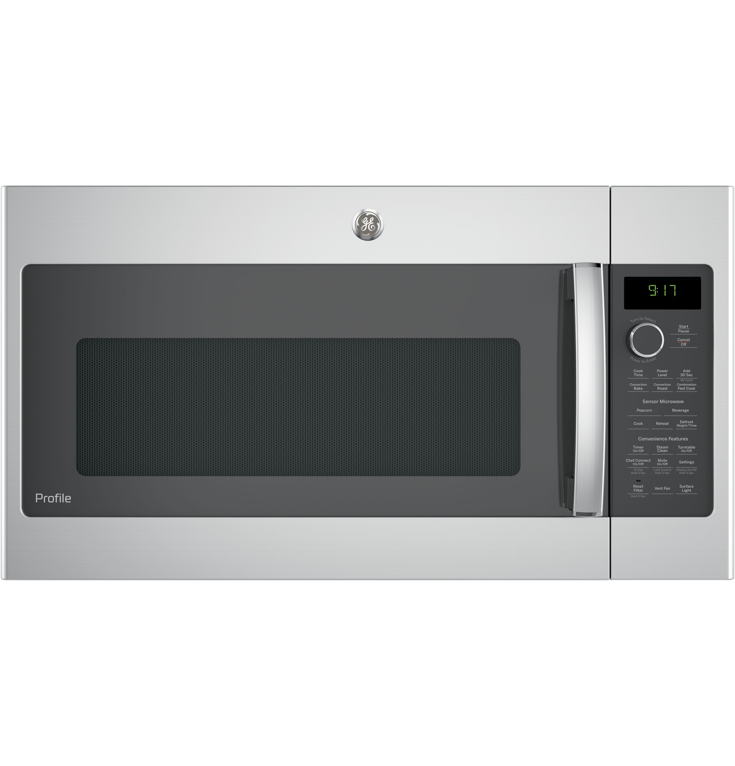 GE Profile GE Profile™ 1.7 Cu. Ft. Convection Over-the-Range Microwave Oven