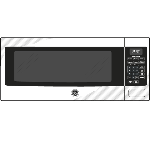 Model: PEM31EFES | GE Profile™ Series 1.1 Cu. Ft. Countertop Microwave Oven