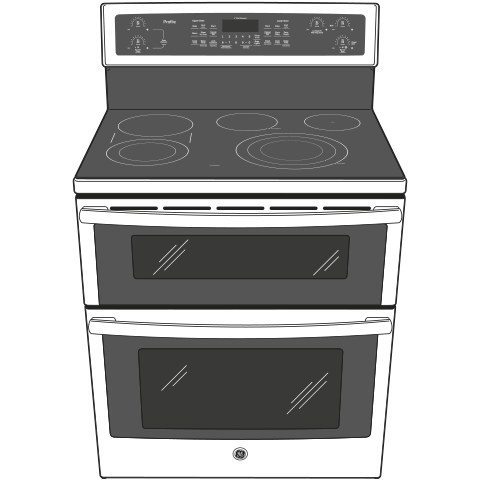 "Model: PB960EJES | GE Profile GE Profile™ Series 30"" Free-Standing Electric Double Oven Convection Range"