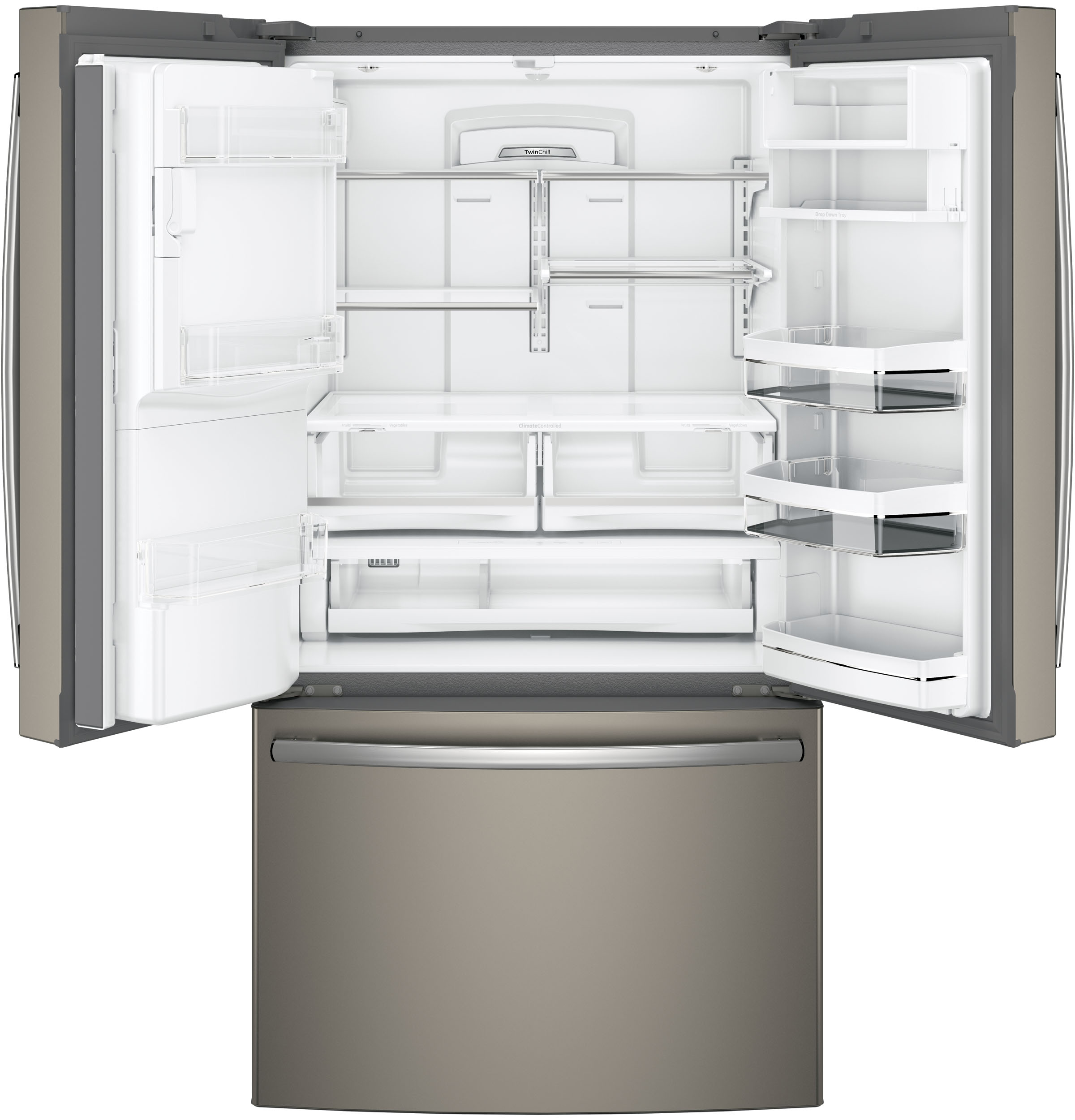 Model: PFE28KMKES | GE Profile GE Profile™ Series ENERGY STAR® 27.8 Cu. Ft. French-Door Refrigerator with Hands-Free AutoFill