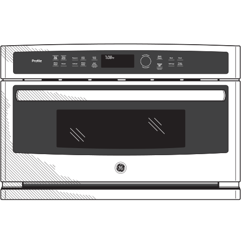 Model: PWB7030SLSS | GE Profile™ Series Built-In Microwave/Convection Oven
