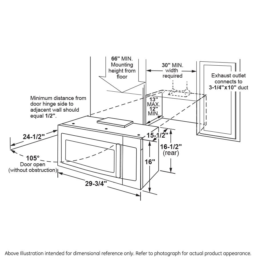 Model: PVM9215SKSS | GE Profile™ Series 2.1 Cu. Ft. Over-the-Range Sensor Microwave Oven