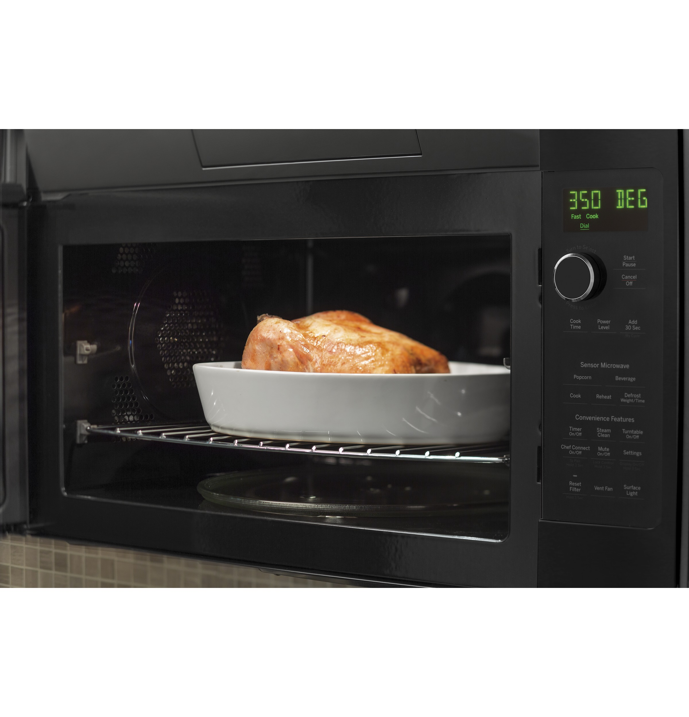 Model: PVM9179DKBB | GE Profile™ Series 1.7 Cu. Ft. Convection Over-the-Range Microwave Oven