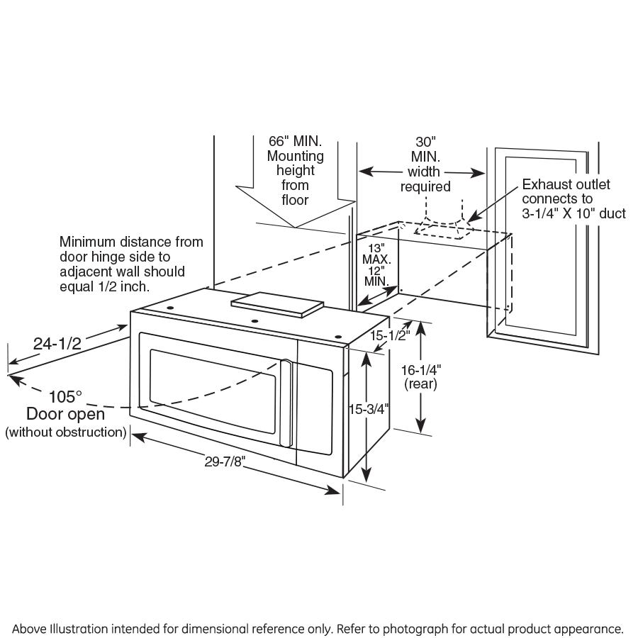 Model: PVM9179DKBB | GE Profile GE Profile™ Series 1.7 Cu. Ft. Convection Over-the-Range Microwave Oven
