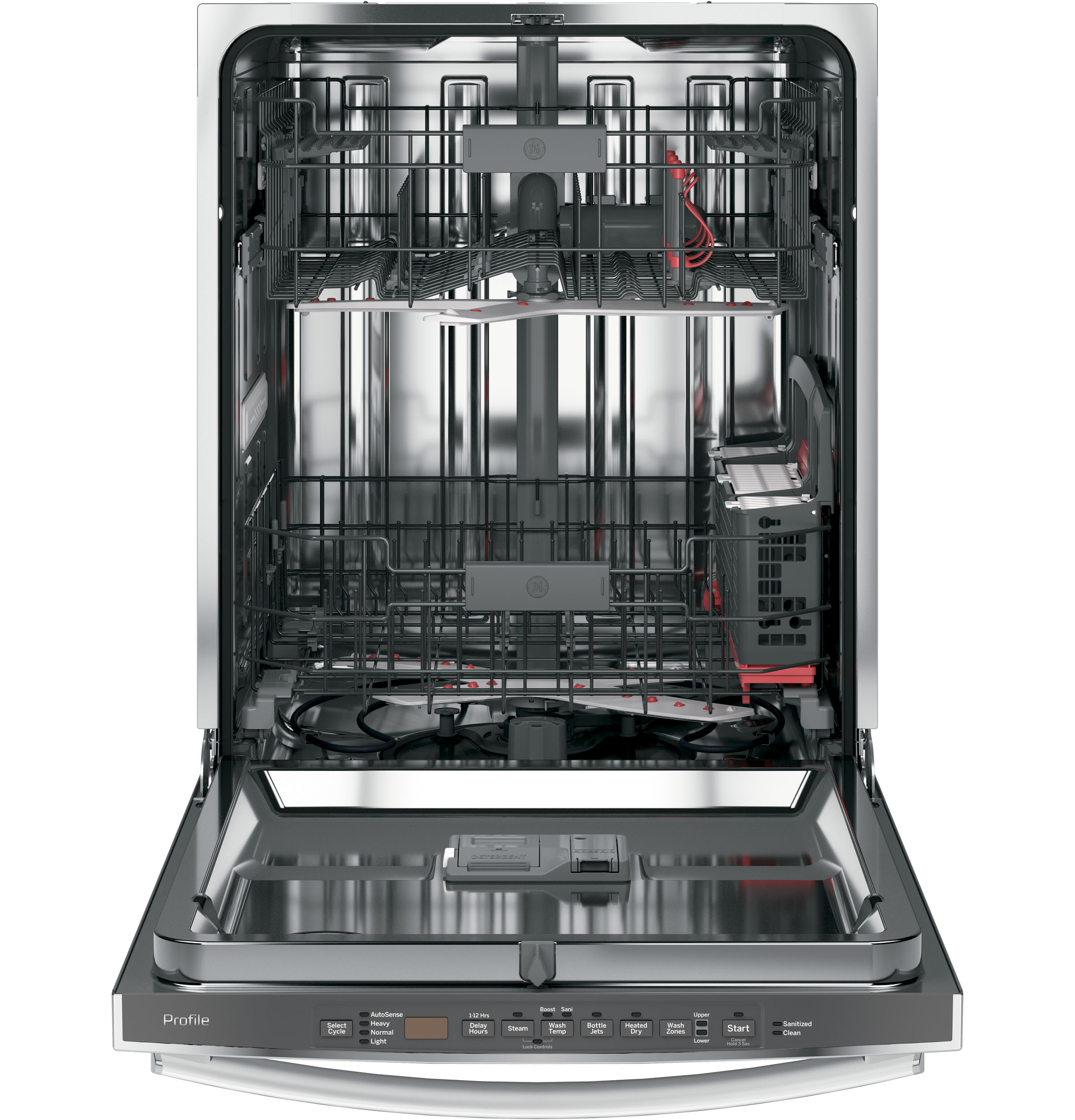 Model: PDT825SSJSS | GE Profile™ Stainless Steel Interior Dishwasher with Hidden Controls