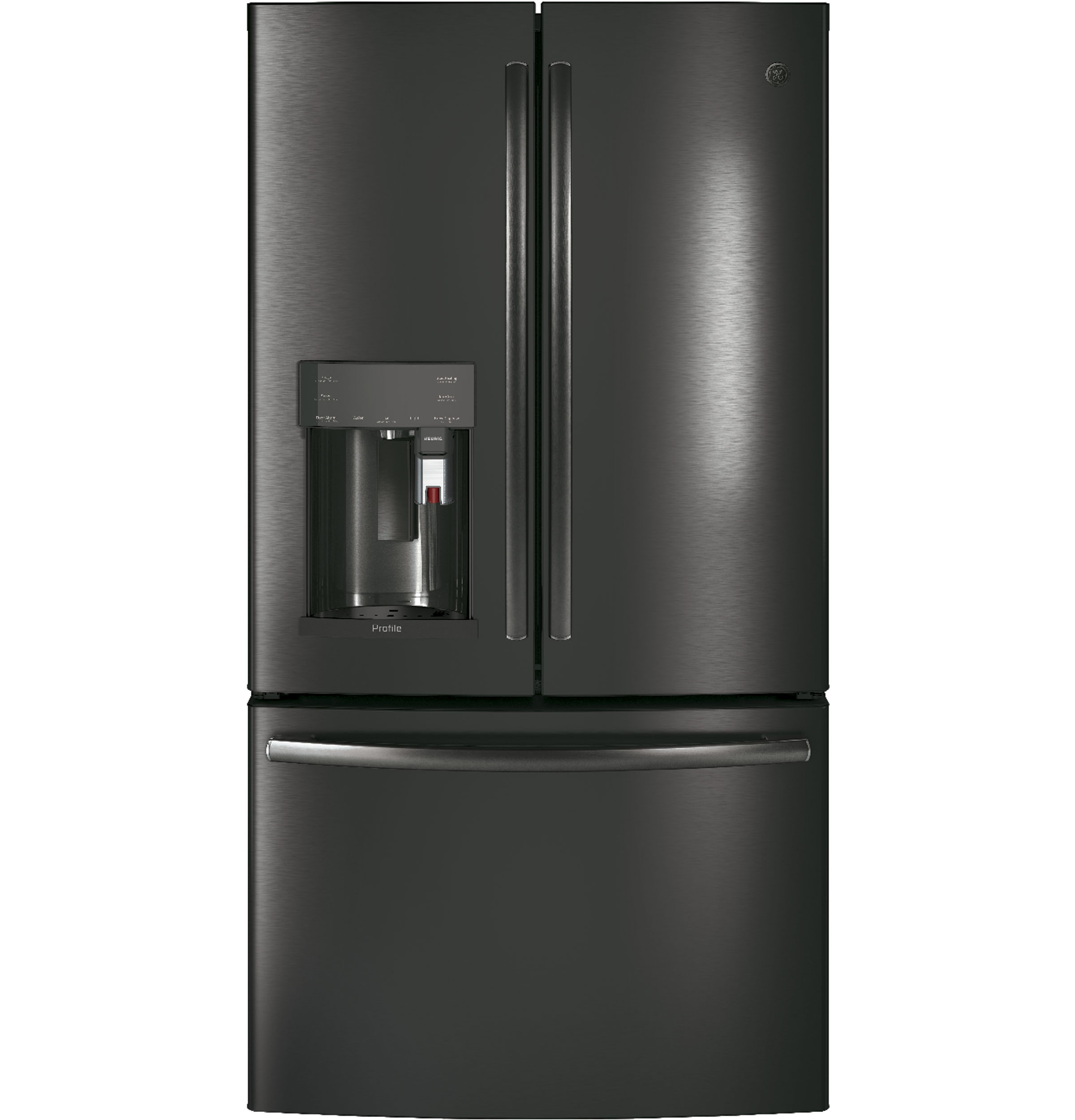 GE Profile GE Profile™ Series ENERGY STAR® 22.2 Cu. Ft. Counter-Depth French-Door Refrigerator with Keurig® K-Cup® Brewing System
