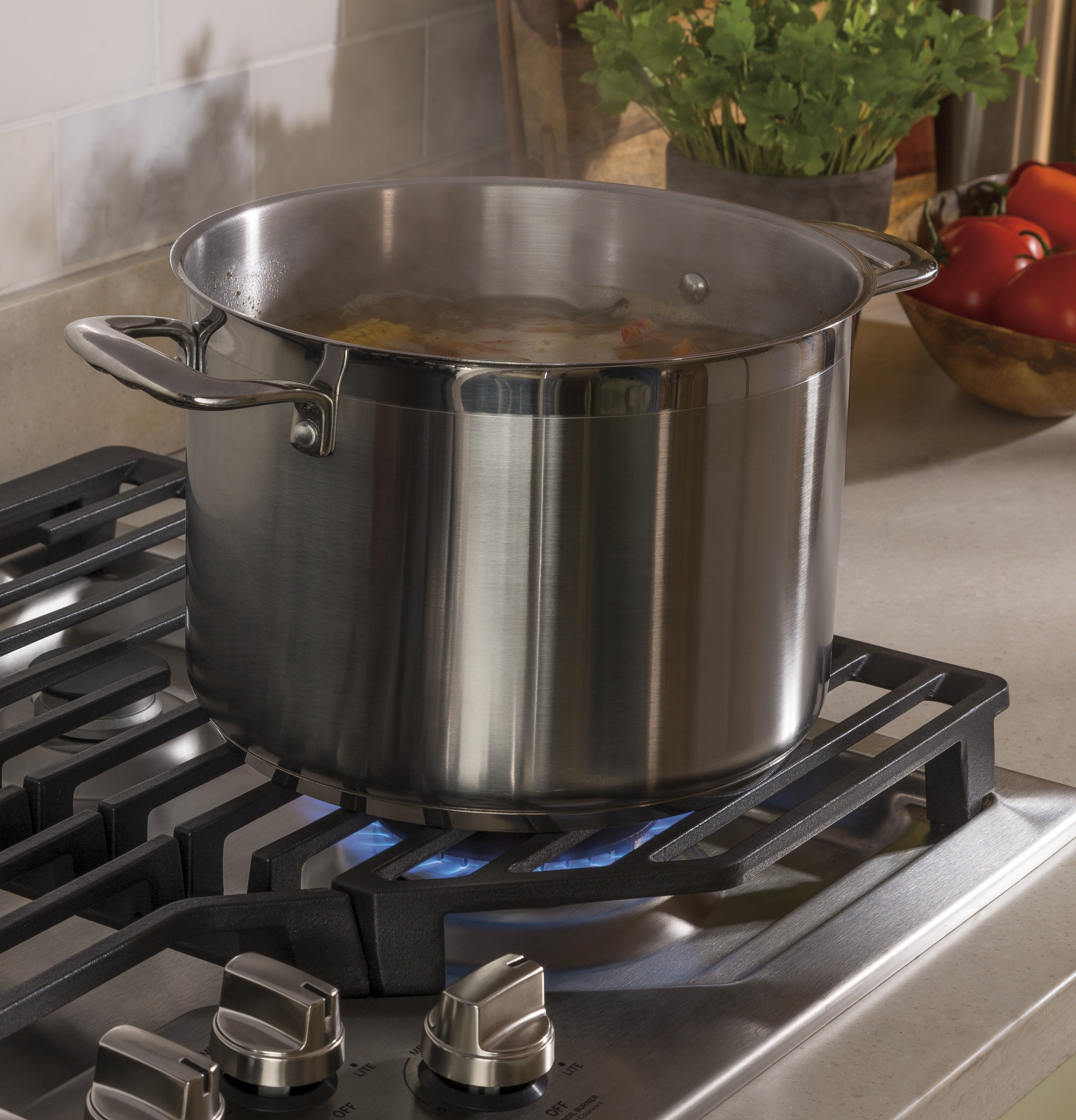 "Model: PGP7036SLSS | GE Profile GE Profile™ Series 36"" Built-In Gas Cooktop"