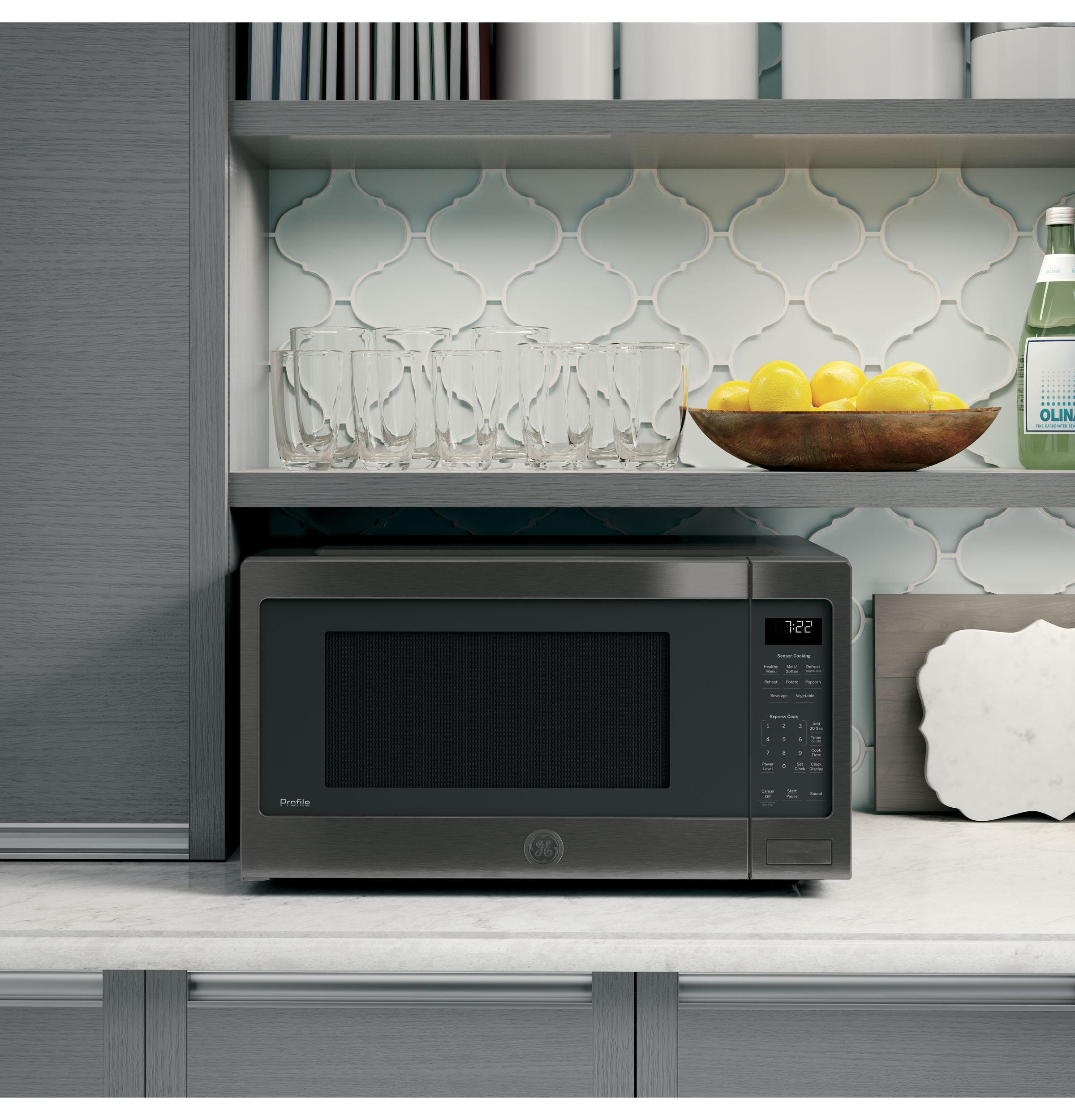 Model: PES7227BLTS | GE Profile GE Profile™ Series 2.2 Cu. Ft. Countertop Sensor Microwave Oven