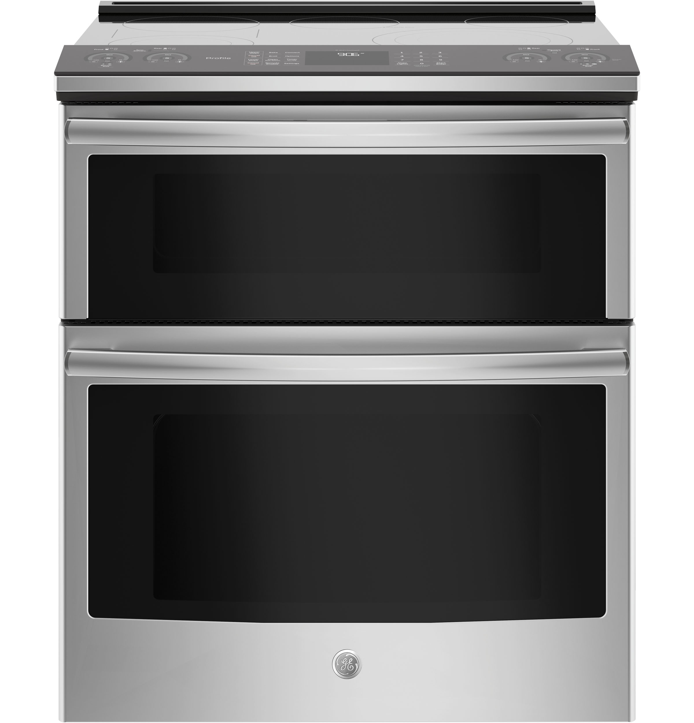 "GE Profile GE Profile™ Series 30"" Slide-In Electric Double Oven Convection Range"