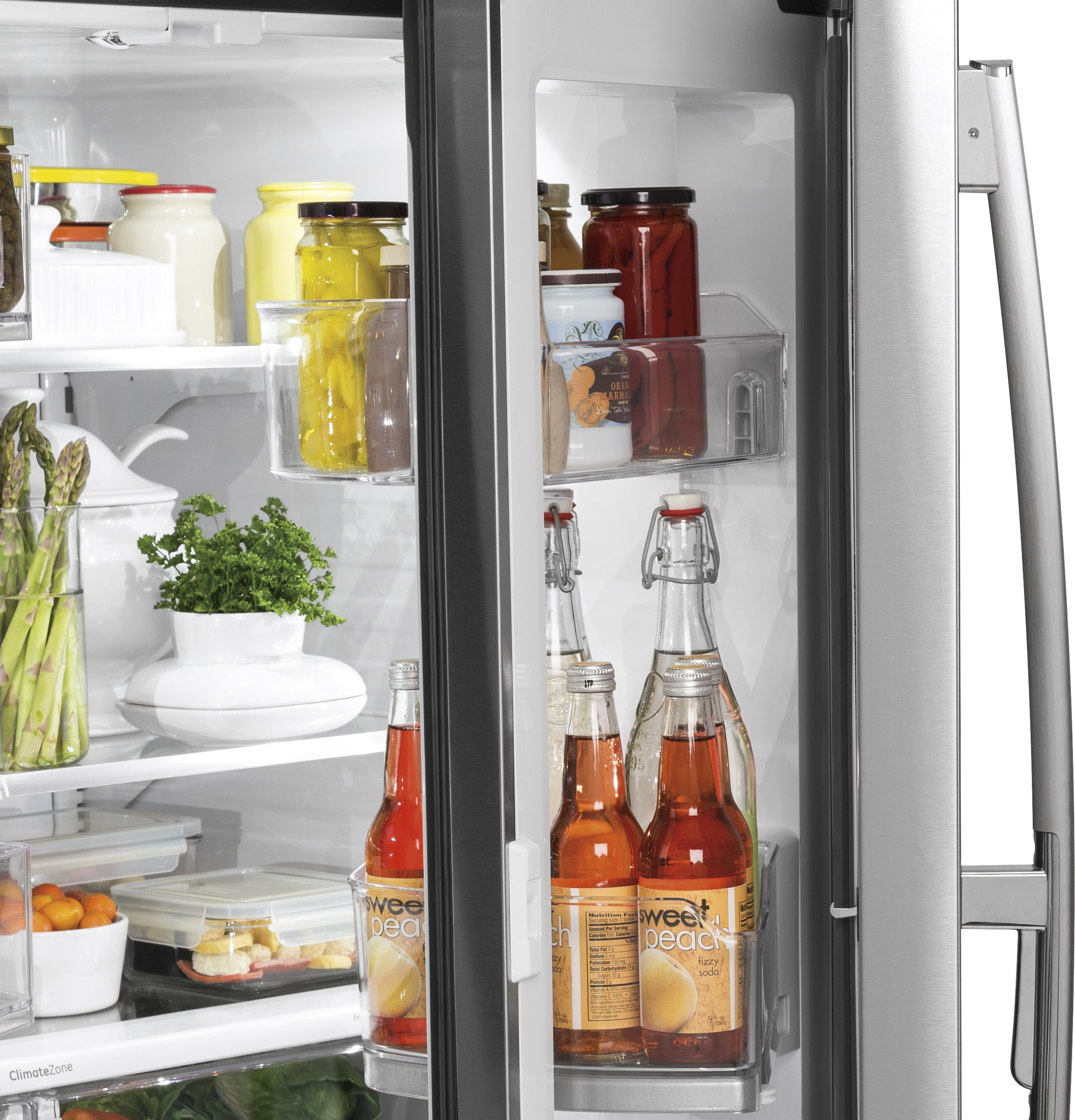 Model: PYD22KSLSS | GE Profile™ Series 22.2 Cu. Ft. Counter-Depth French-Door Refrigerator
