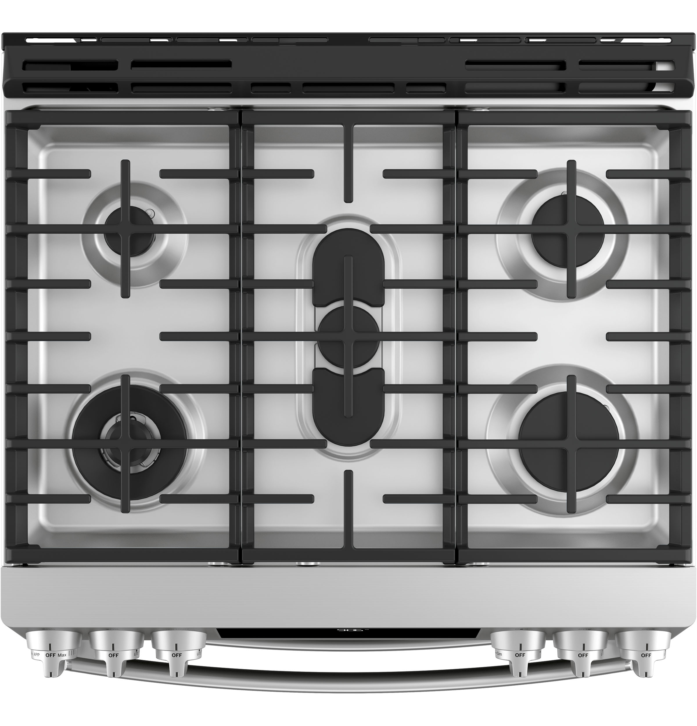 "Model: PGS960SELSS | GE Profile GE Profile™ Series 30"" Slide-In Front Control Gas Double Oven Convection Range"