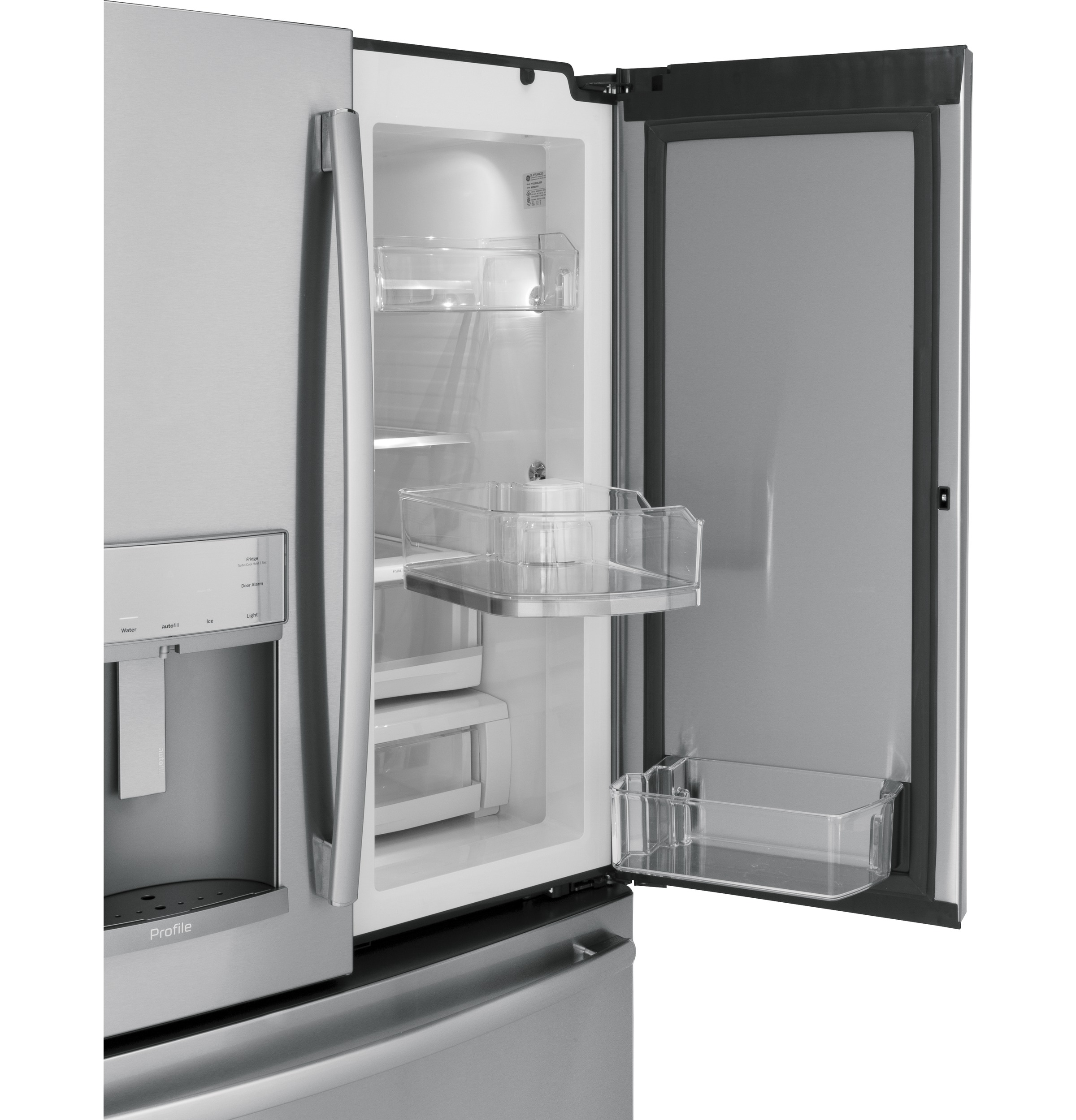 Model: PFD28KSLSS | GE Profile™ Series 27.8 Cu. Ft. French-Door Refrigerator with Door In Door and Hands-Free AutoFill