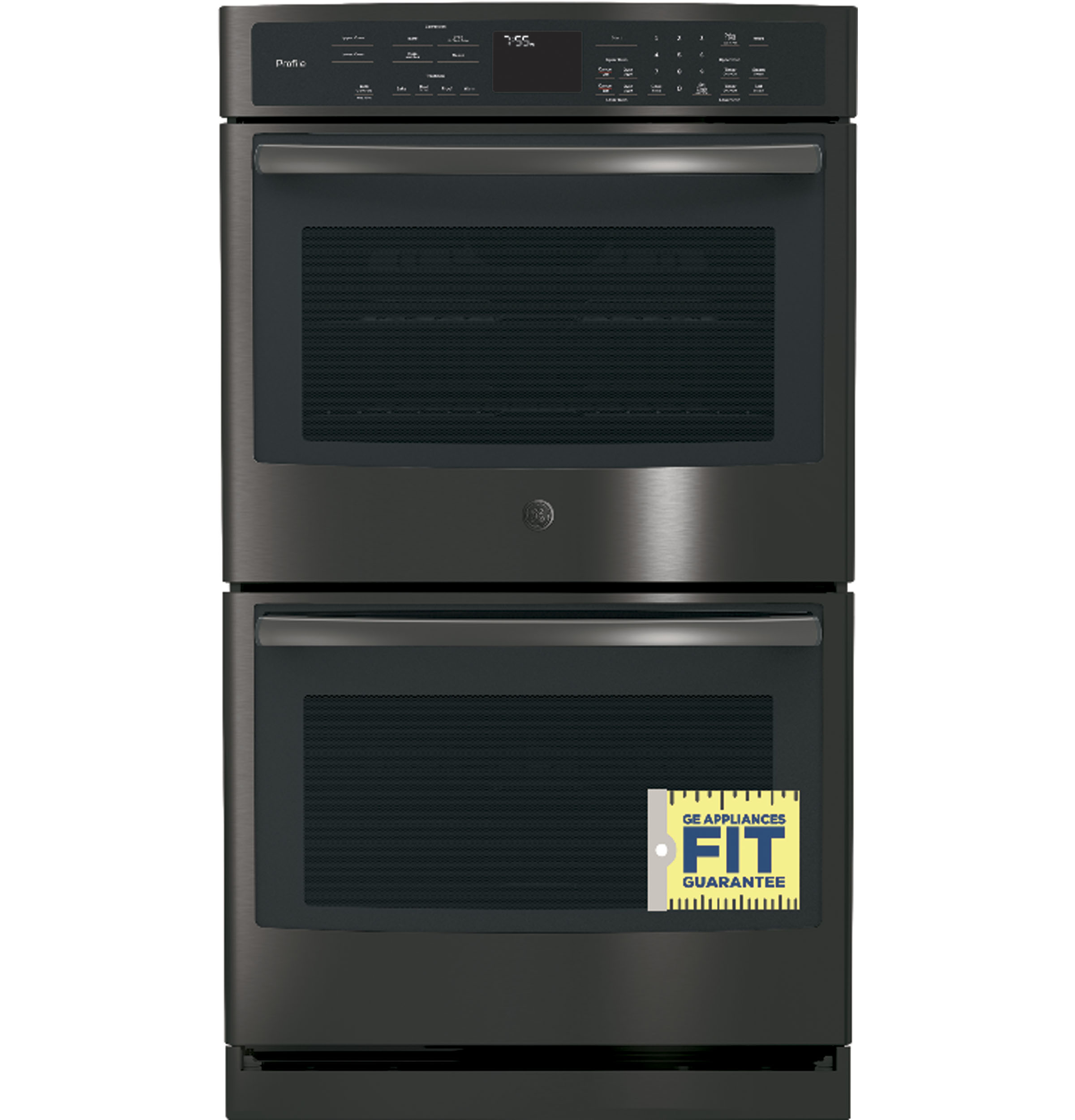 "Model: PT7550BLTS | GE Profile GE Profile™ Series 30"" Built-In Double Convection Wall Oven"