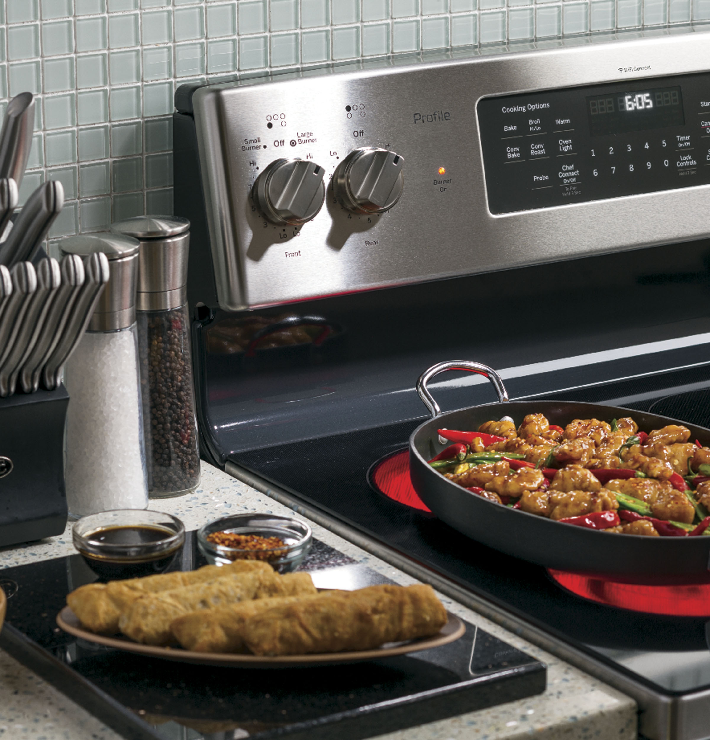 "Model: PB930SLSS | GE Profile GE Profile™ Series 30"" Free-Standing Electric Convection Range"