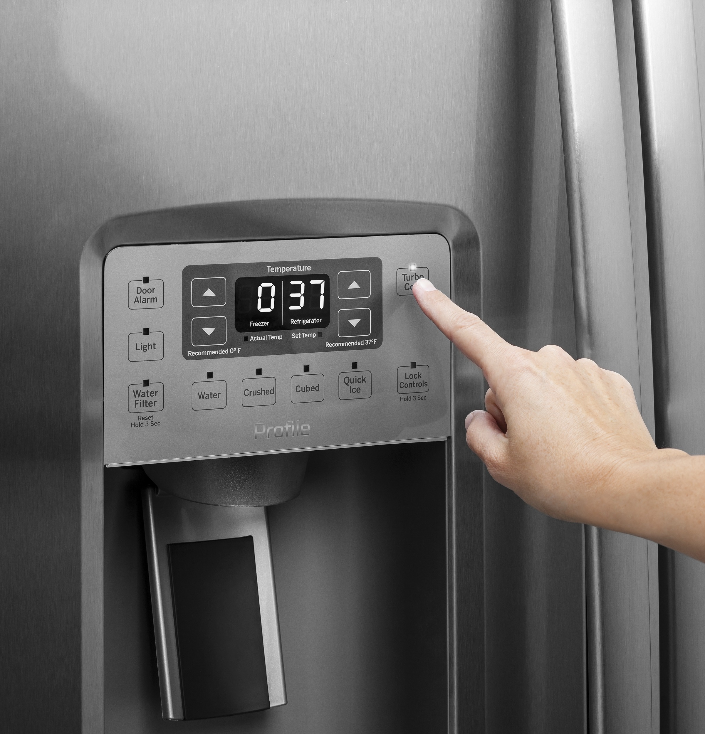 Model: PSE25KBLTS | GE Profile™ Series ENERGY STAR® 25.3 Cu. Ft. Side-by-Side Refrigerator
