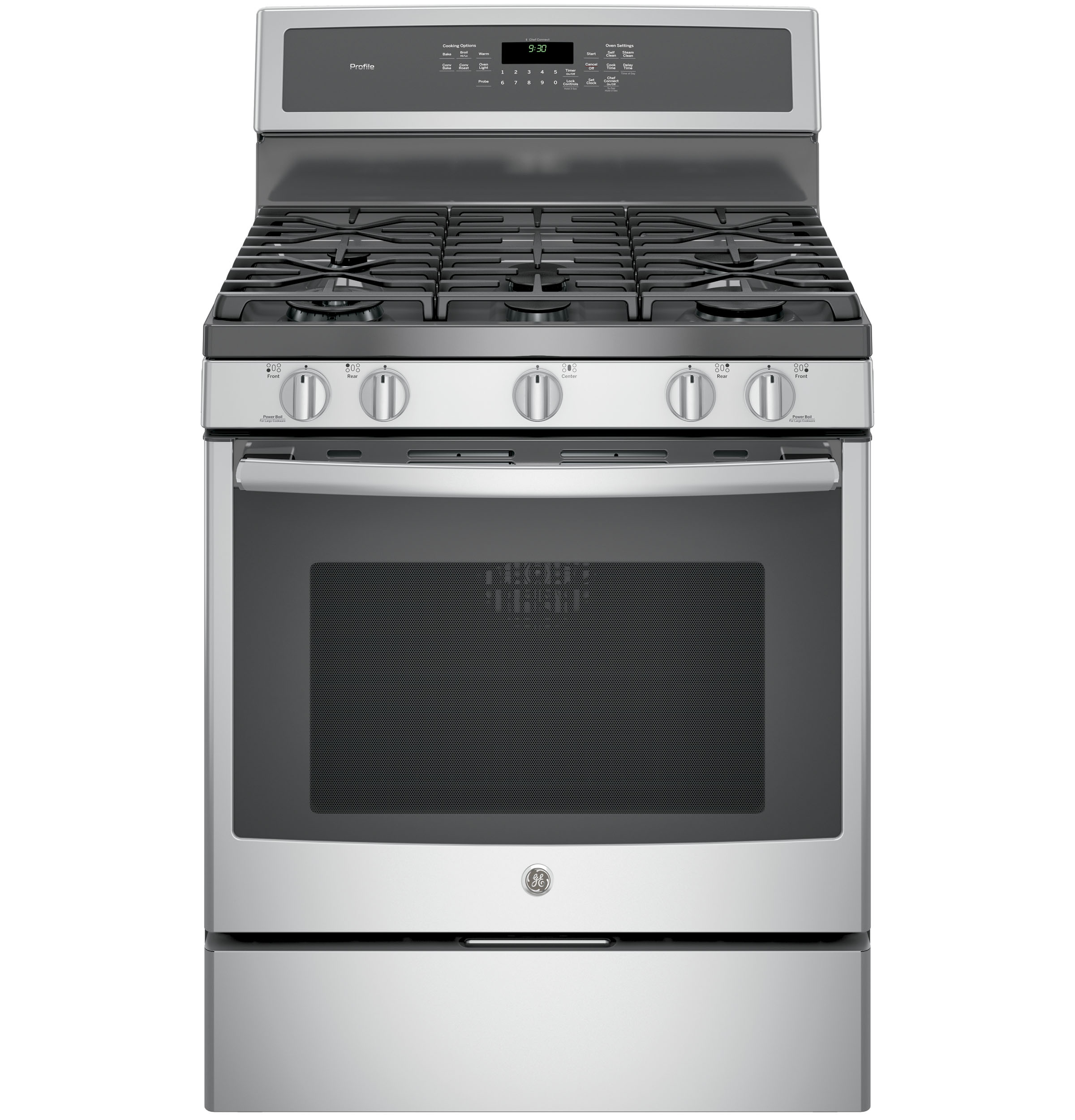 "GE Profile GE Profile™ Series 30"" Free-Standing Gas Convection Range"