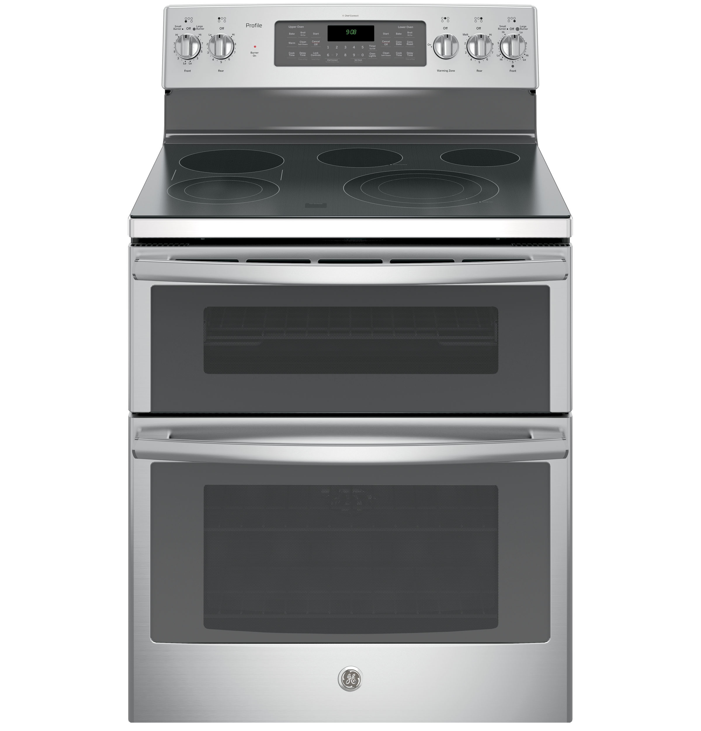 "GE Profile GE Profile™ Series 30"" Free-Standing Double Oven Convection Range"