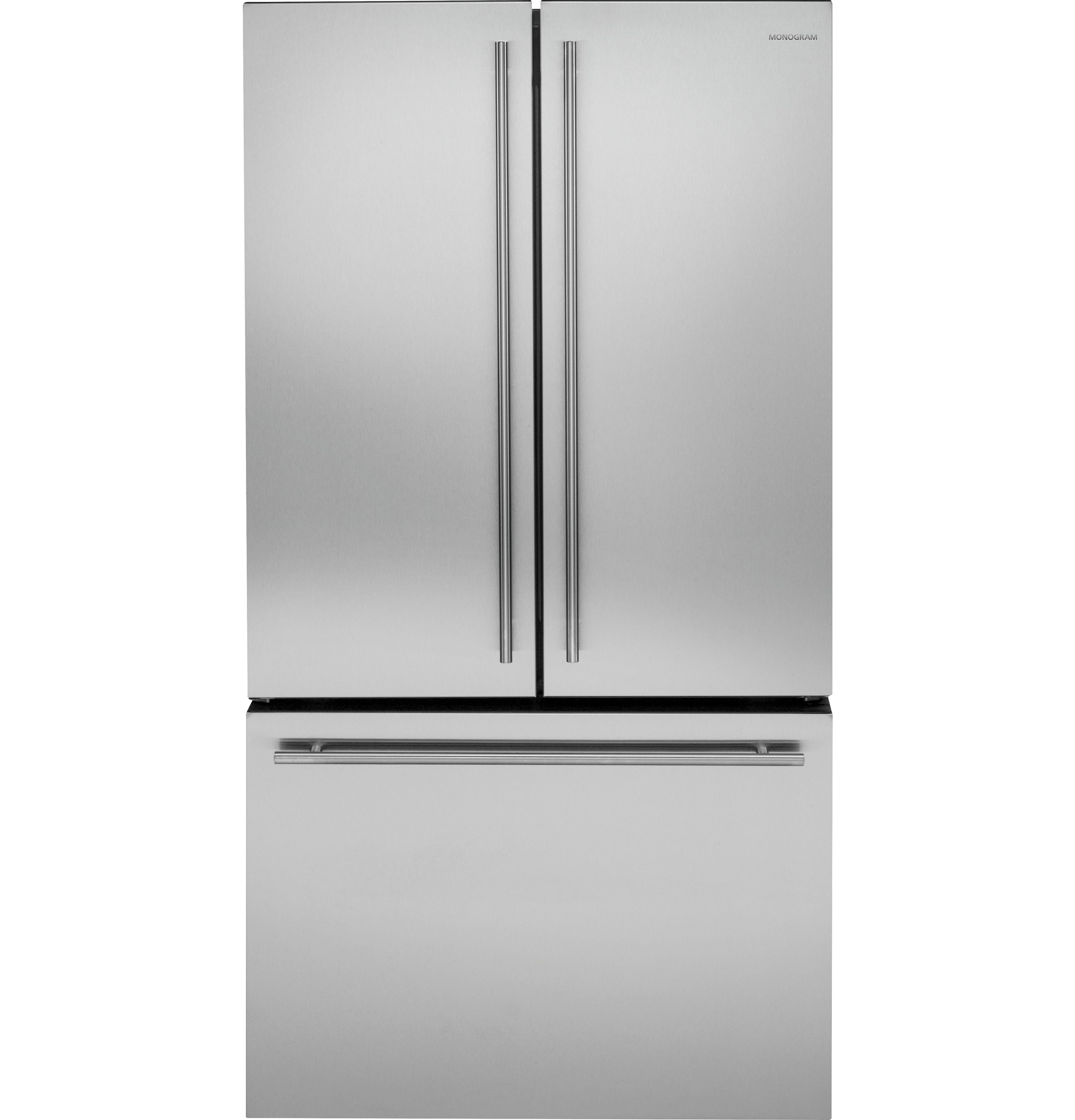 Monogram ENERGY STAR® 23.1 Cu. Ft. Counter-Depth French-Door Refrigerator  sc 1 st  Uneeda Appliance Co. & Monogram - ZWE23ESHSS - Monogram ENERGY STAR® 23.1 Cu. Ft. Counter ...