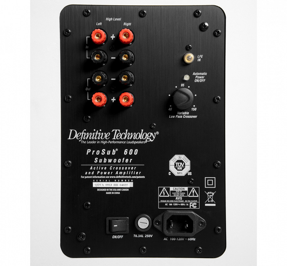 Definitive Technology Procinema 600 System 6 Piece 5 1