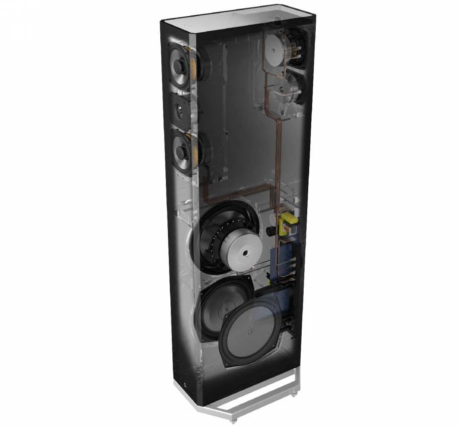 High-Performance Tower Speaker with Integrated 8