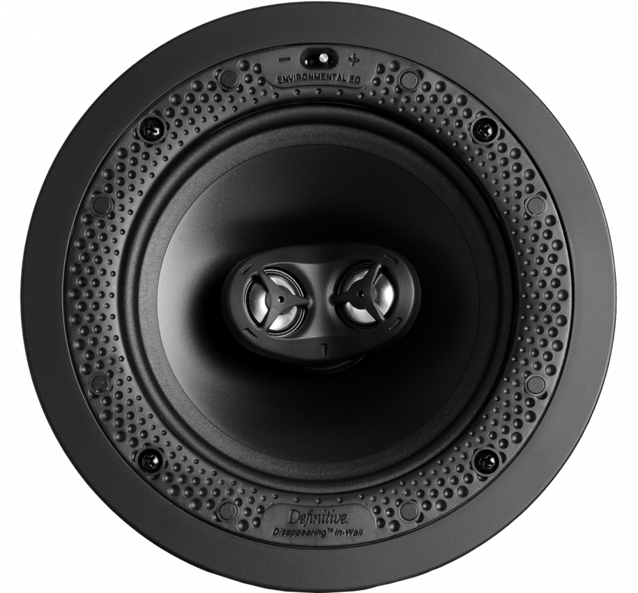 "Disappearing™ Series Round Stereo 6.5"" In-Wall / In-Ceiling Speaker"
