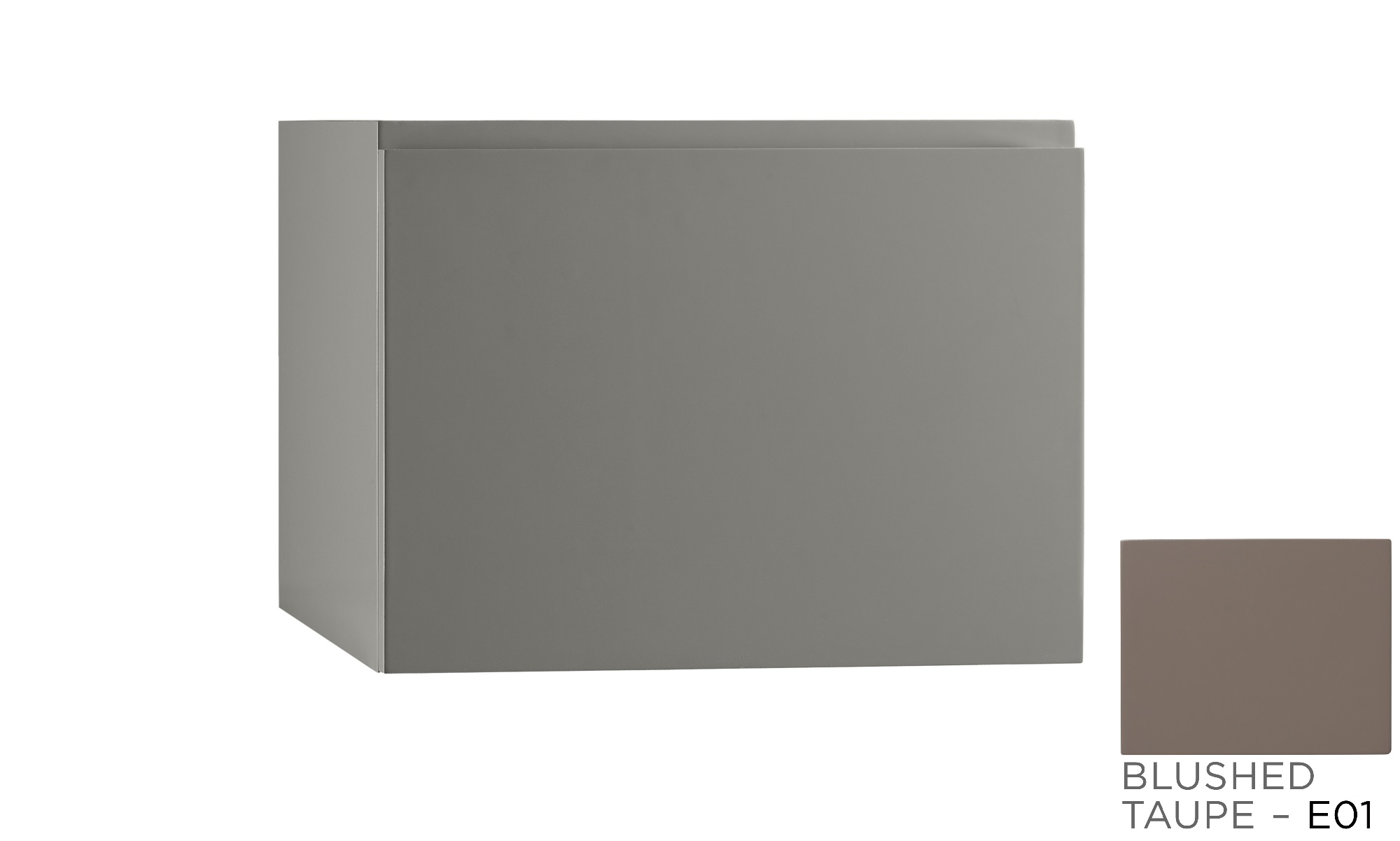 "Ronbow Ariella 23"" Wall Mount Bathroom Vanity Base Cabinet in Blush Taupe"