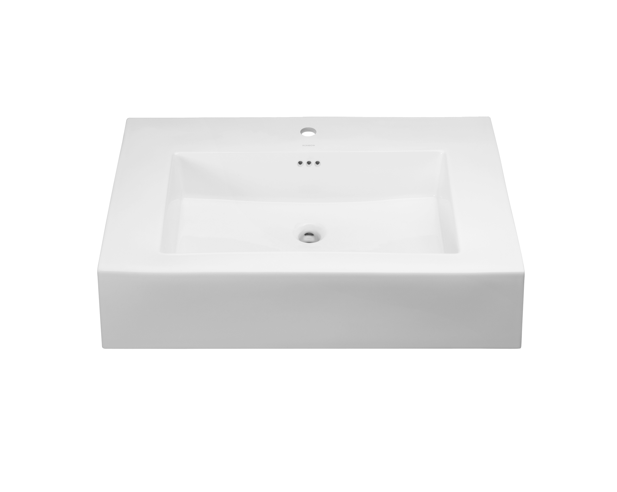"Ronbow Prominent? 37"" Ceramic Sinktop with Single Faucet Hole in White"