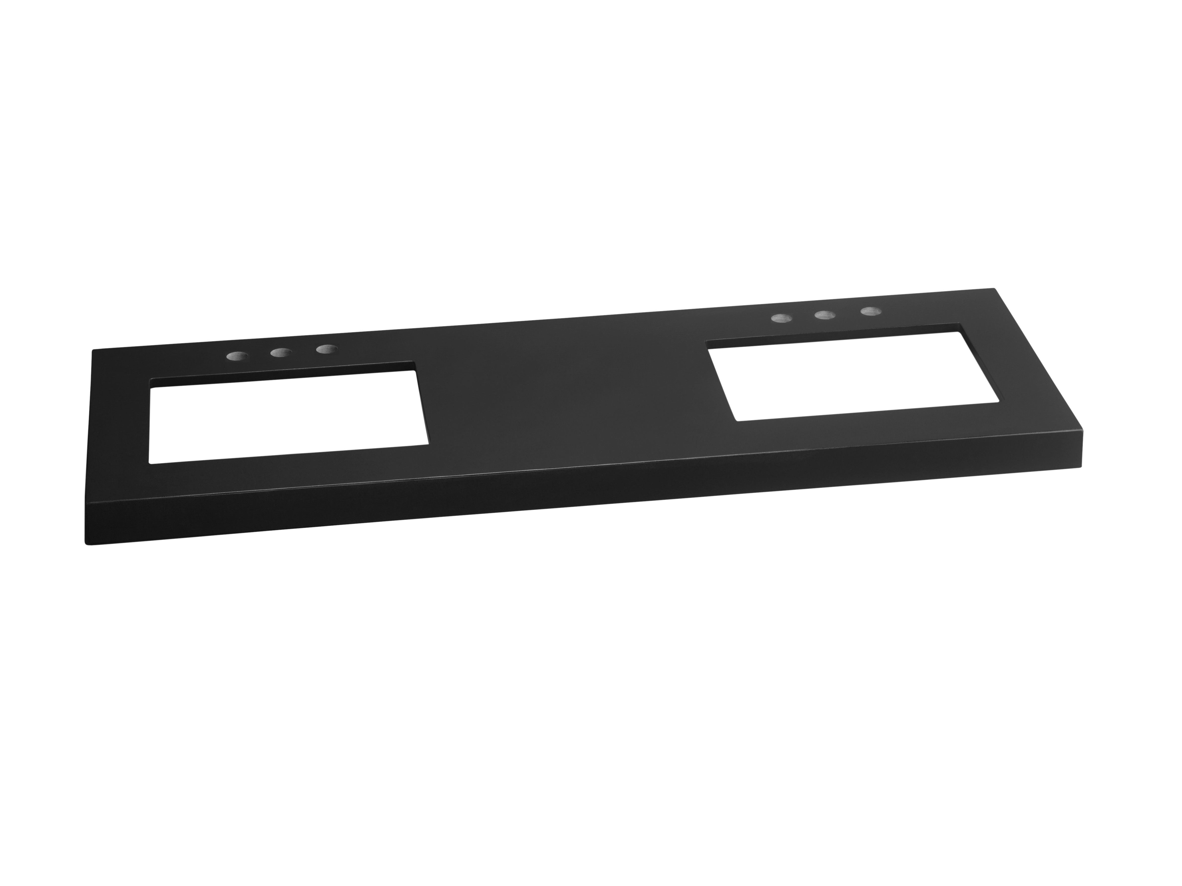 """Ronbow TechStone? WideAppeal? 61"""" x 22"""" Vanity Top in Broad Black  - 2 3/4"""" Thick"""