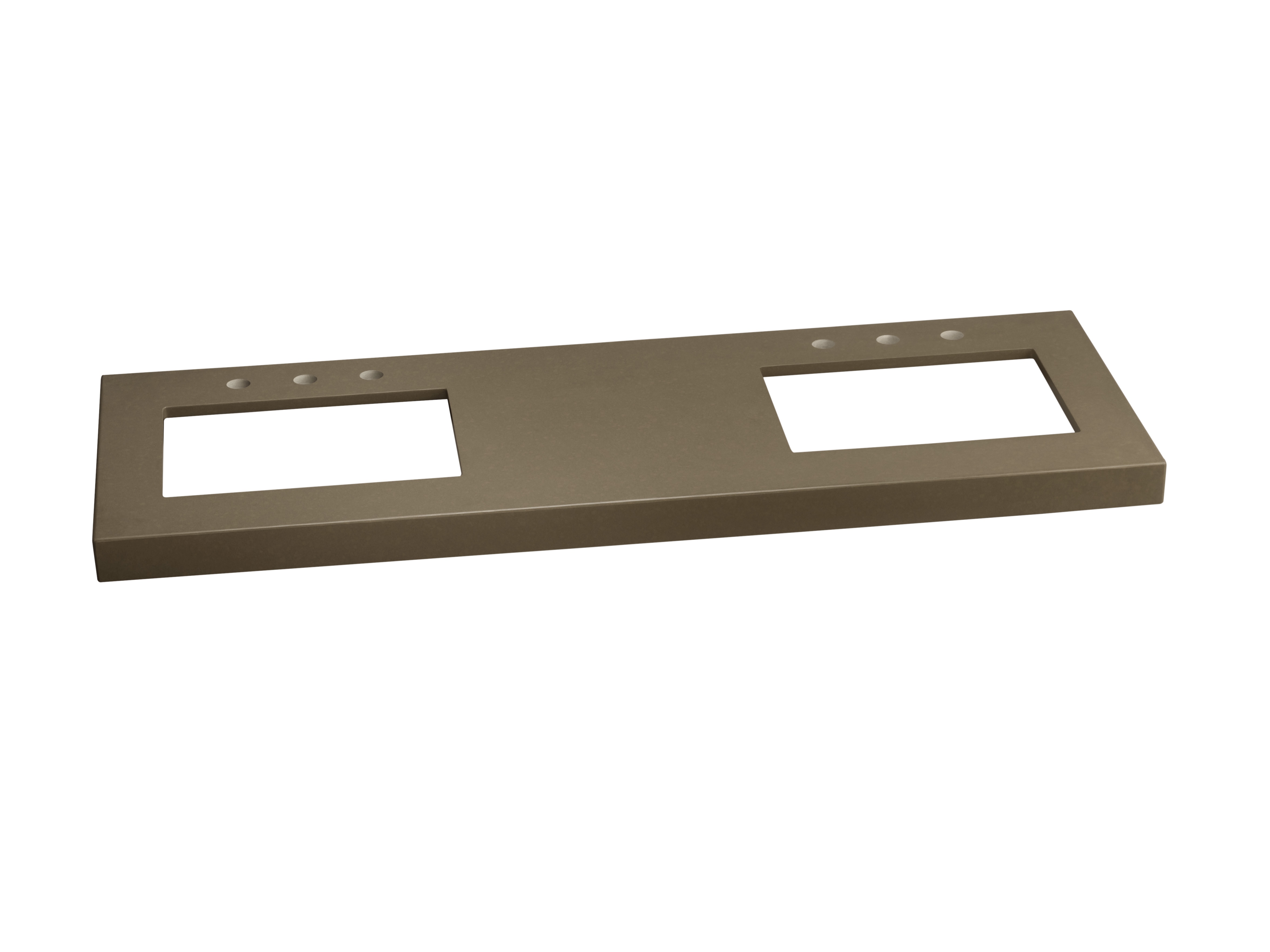 """Ronbow TechStone? WideAppeal? 61"""" x 22"""" Vanity Top in Grand Green  - 2 3/4"""" Thick"""