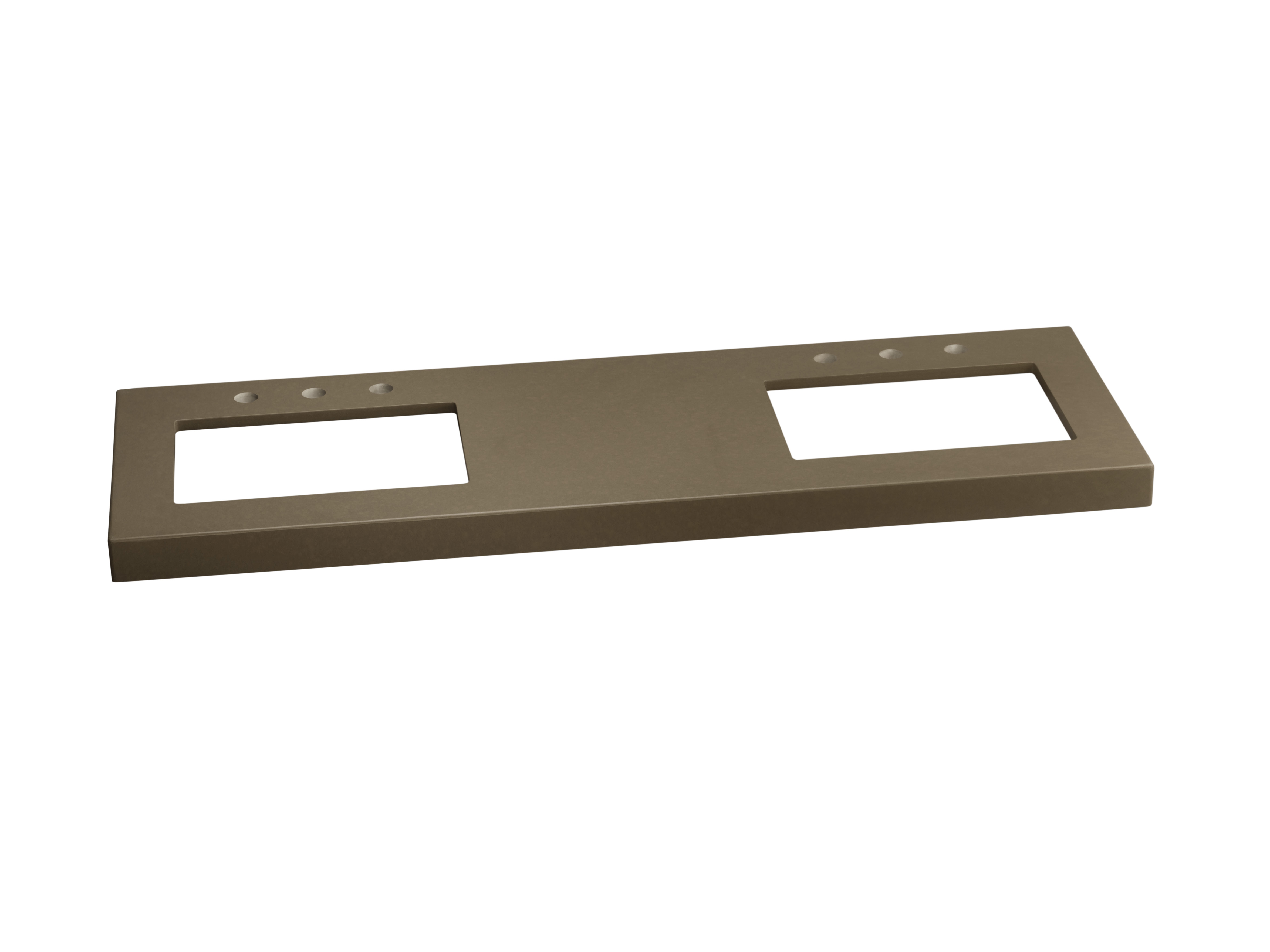 """Ronbow TechStone? WideAppeal? 59"""" x 19"""" Vanity Top in Grand Green  - 2"""" Thick"""