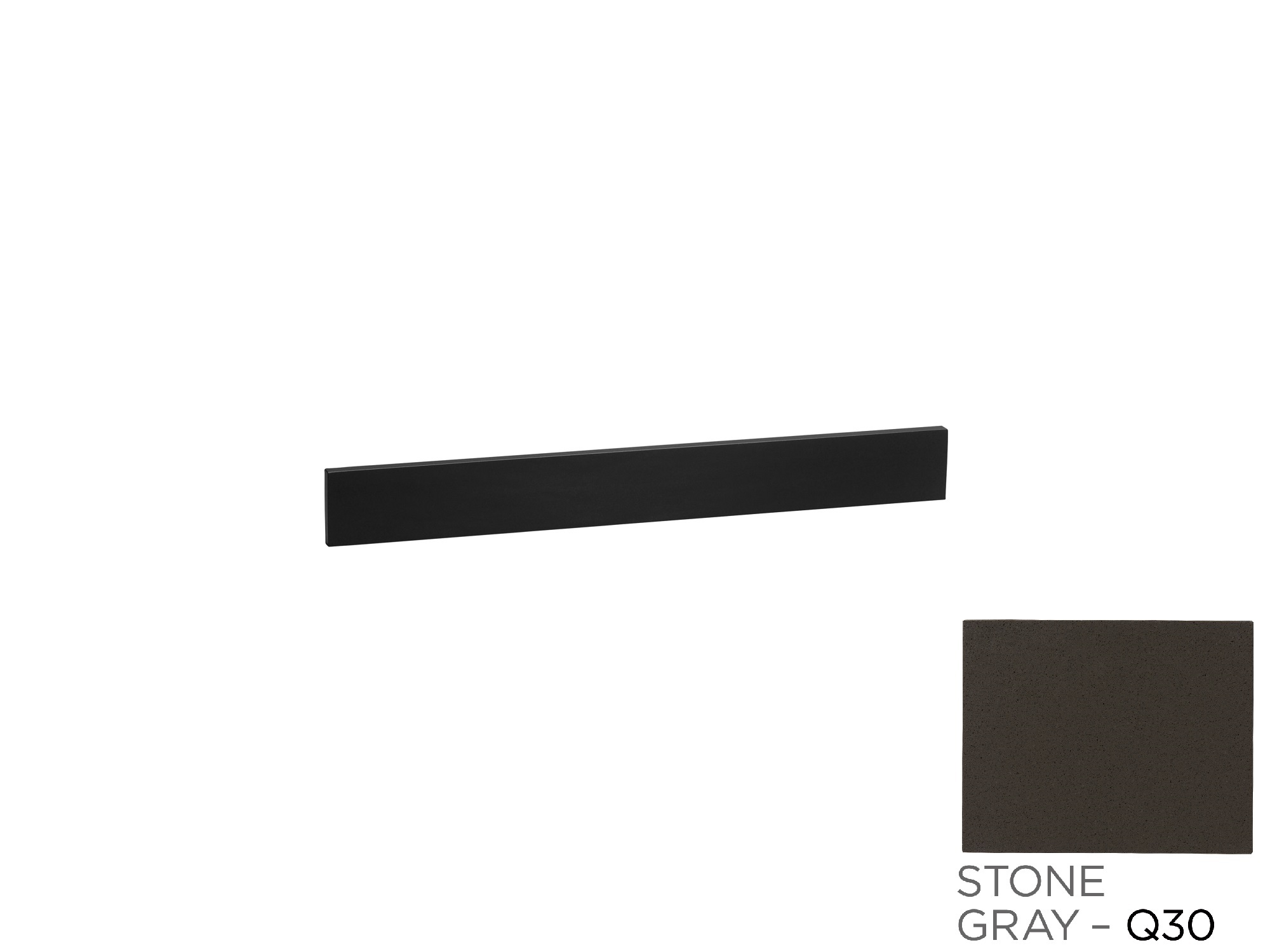 "Ronbow TechStone? 62"" x 3""  Backsplash in Stone Gray"