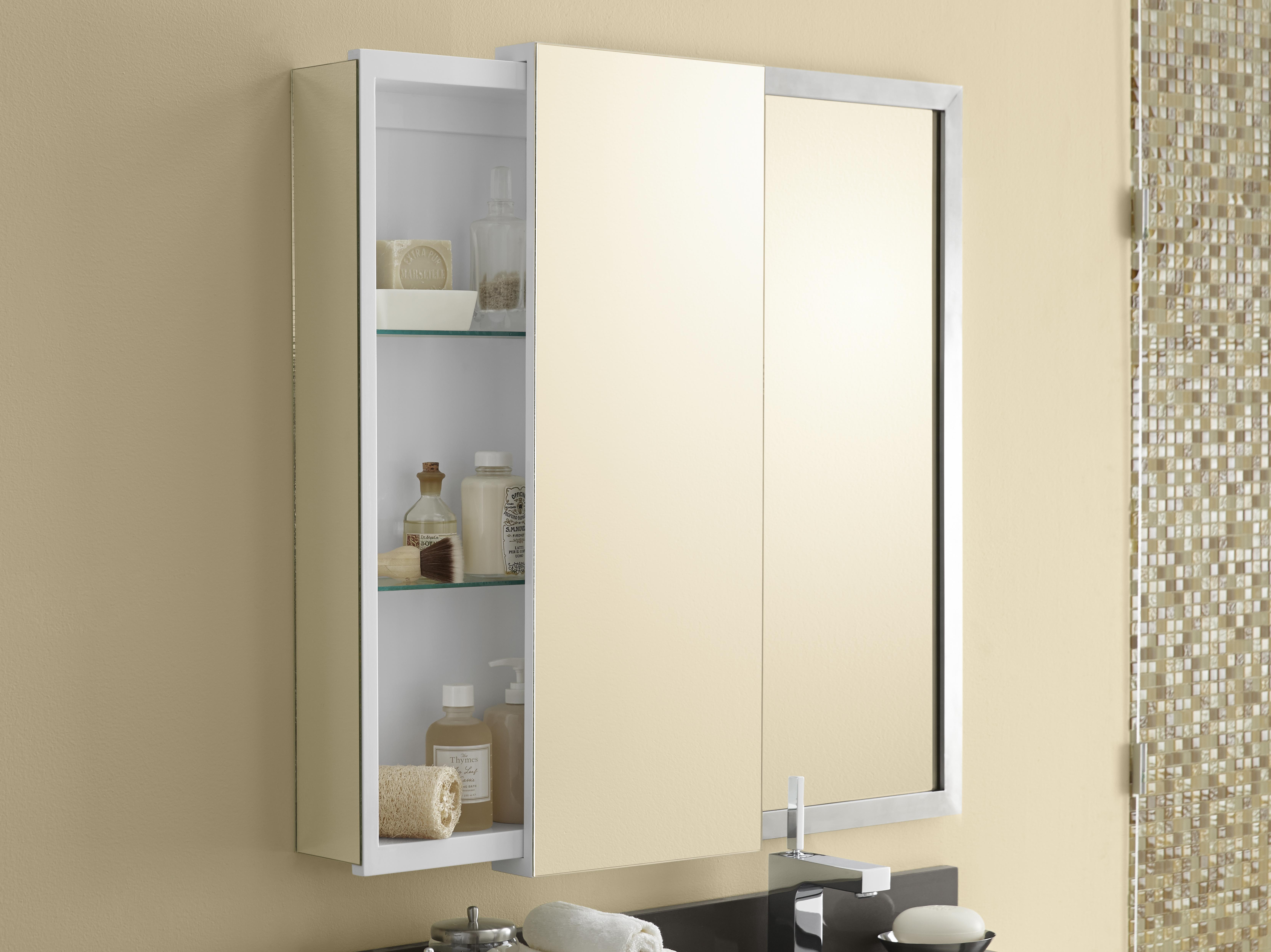 "Model: 687332-00 | Ronbow Mirrored Sliding Door 12"" x 32"" Bathroom Wall Cabinet"