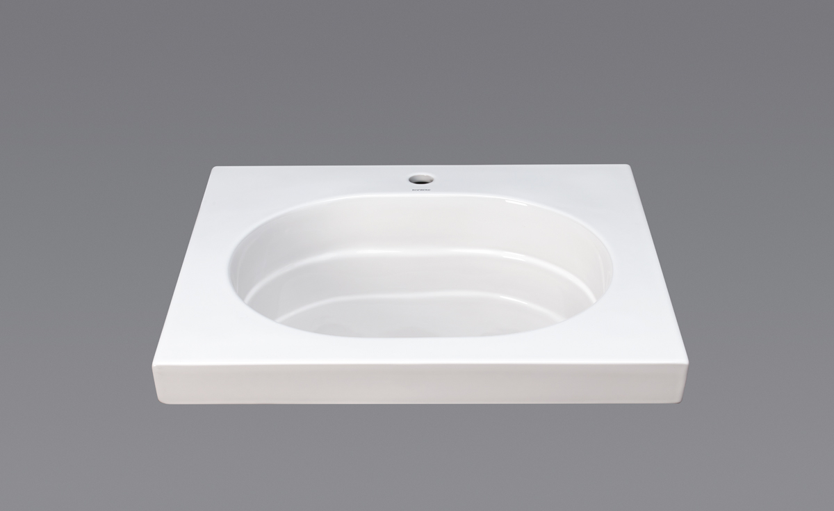 "Ronbow Ashland? 25"" Ceramic Utility Sinktop with Single Faucet Hole in White"