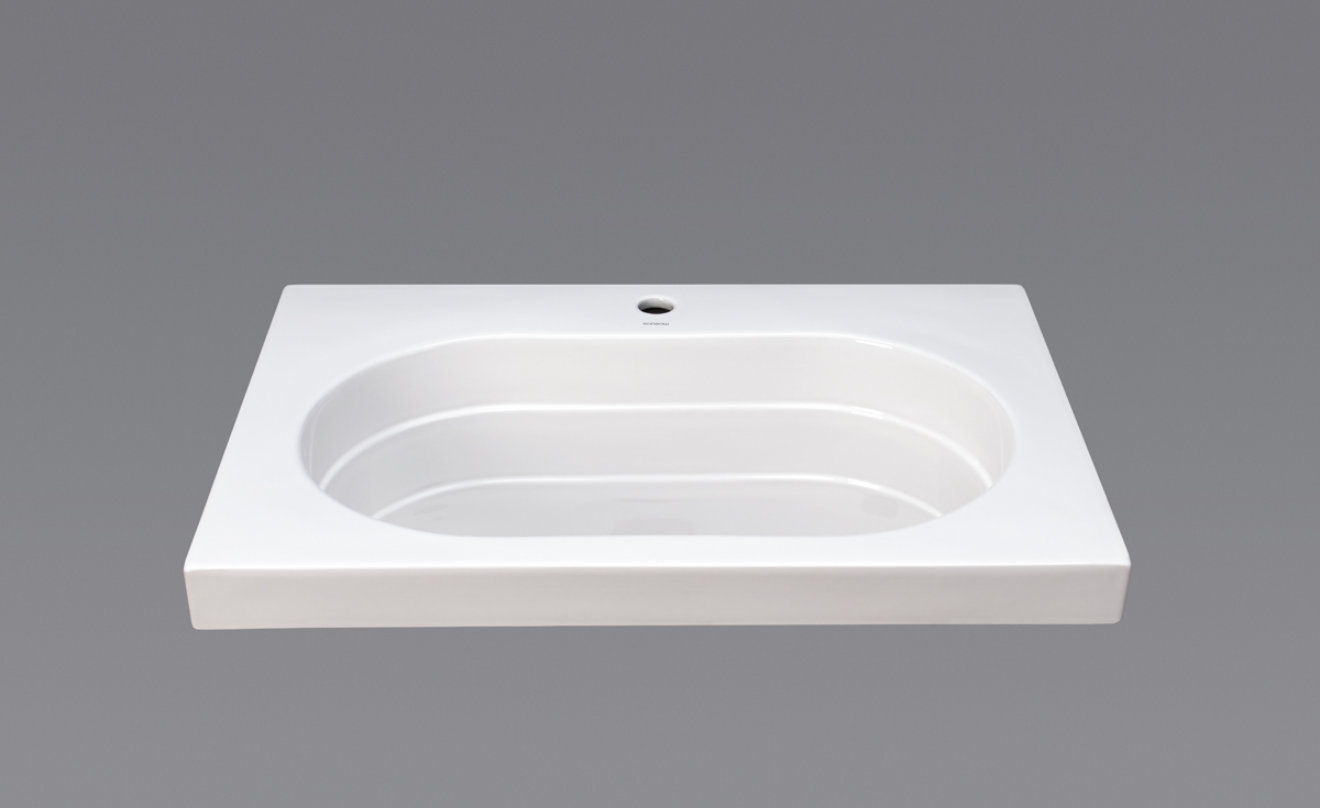 "Ronbow Ashland? 31"" Ceramic Utility Sinktop with Single Faucet Hole in White"