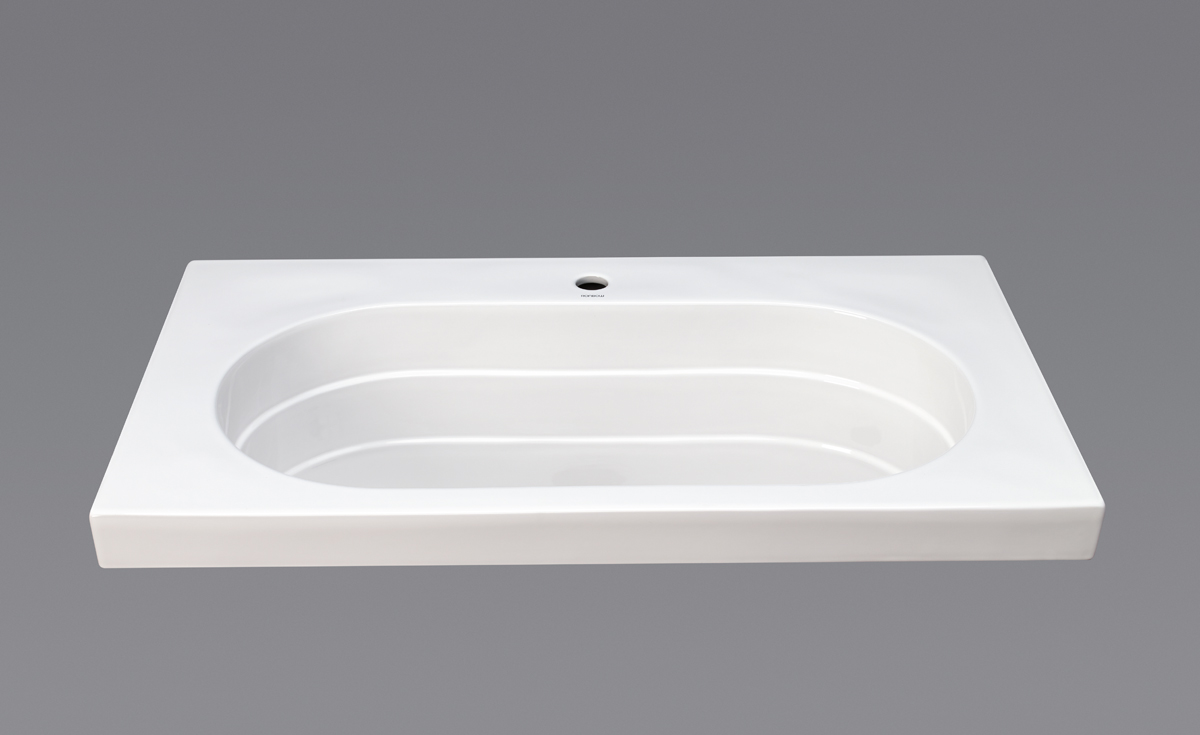 "Ronbow Ashland? 37"" Ceramic Utility Sinktop with Single Faucet Hole in White"