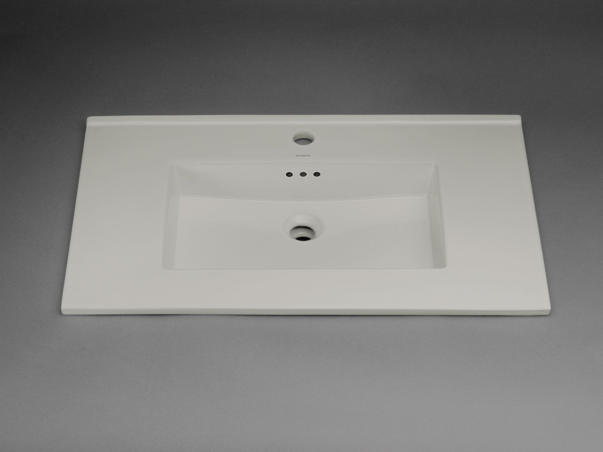 "Ronbow Larisa? 32"" Ceramic Sinktop with Single Faucet Hole in Cool Gray"