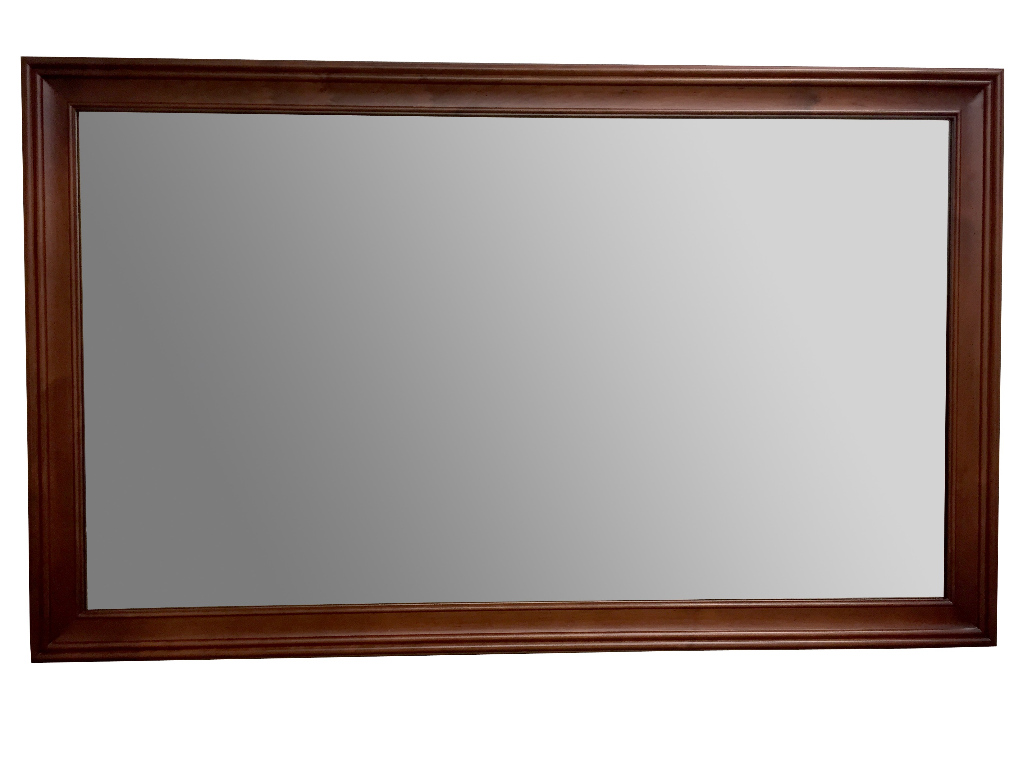 "Ronbow Transitional 60"" x 39"" Solid Wood Framed Bathroom Mirror in Colonial Cherry"